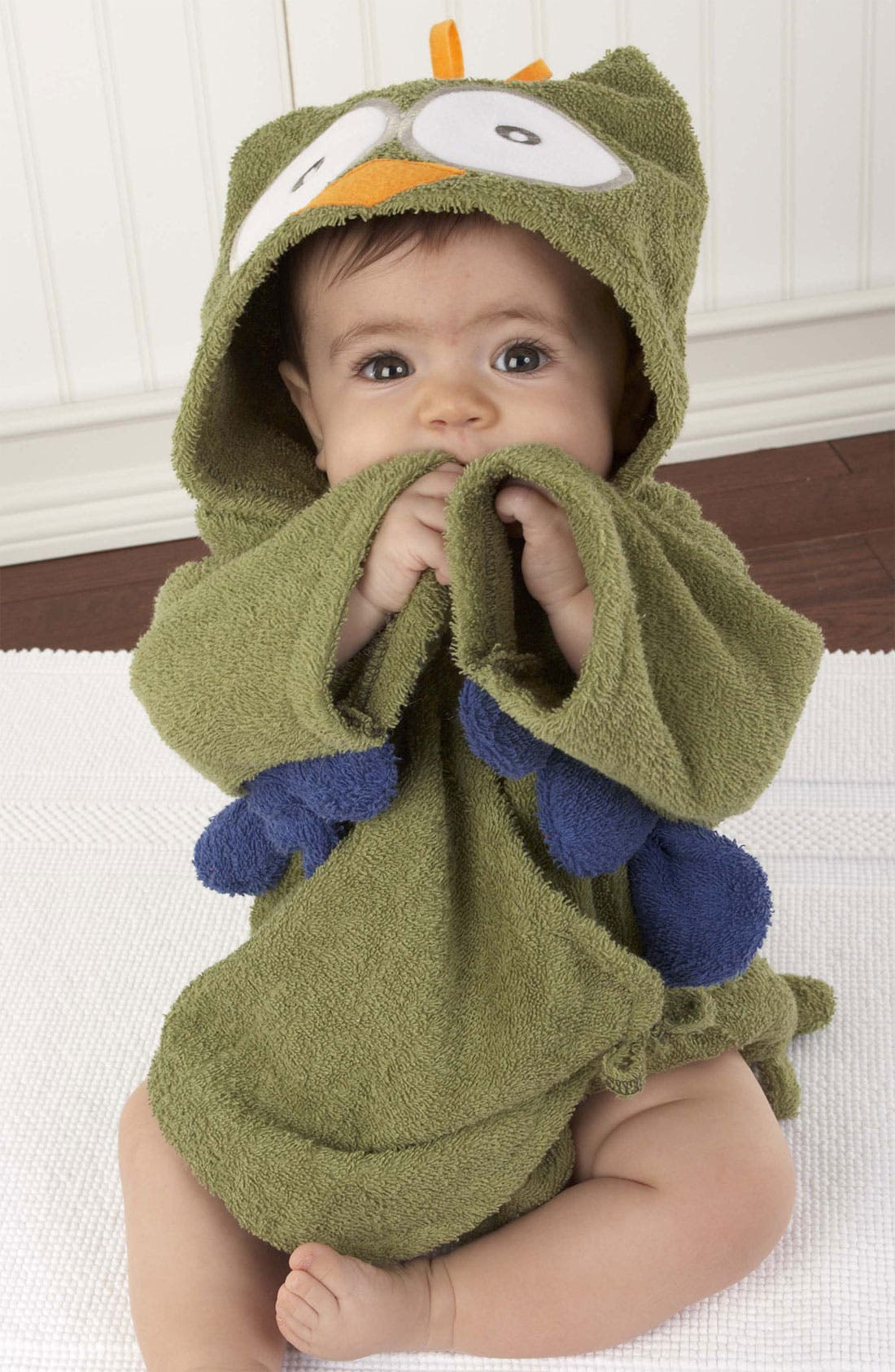 Alternate Image 2  - Baby Aspen 'My Little Night Owl' Terry Cloth Robe (Infant)
