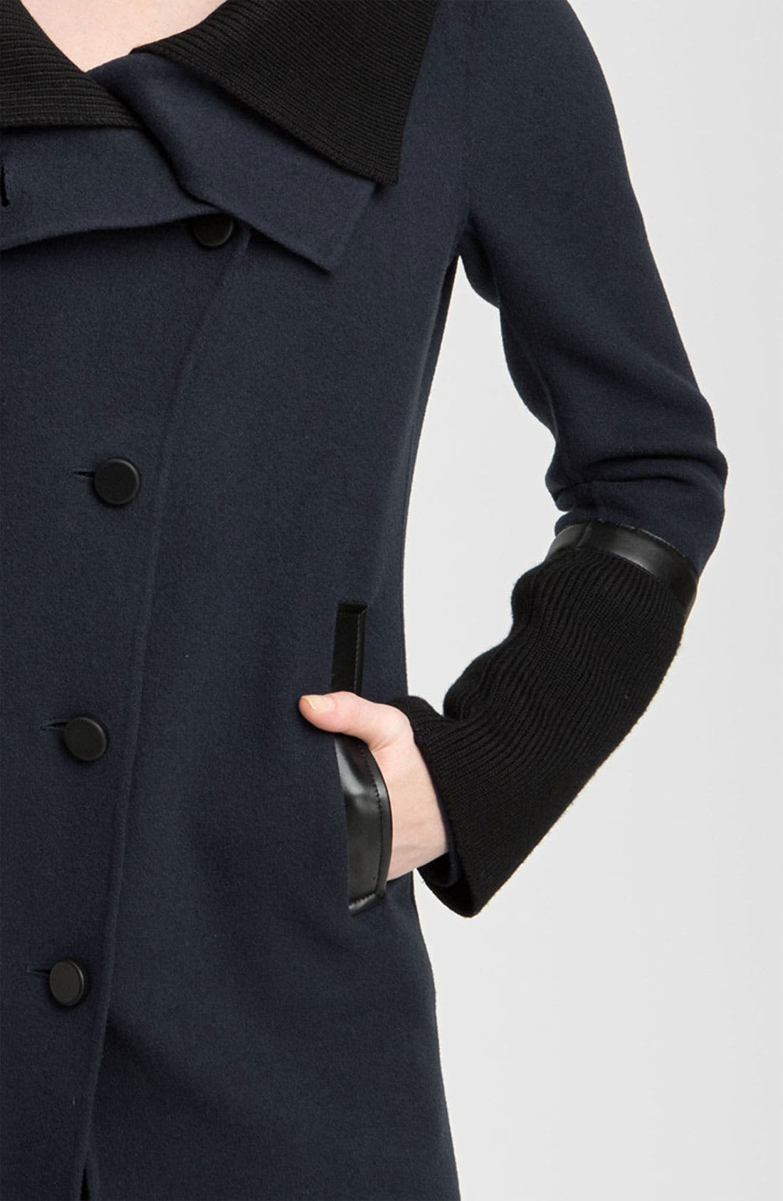 Alternate Image 3  - Mackage Knit & Leather Trim Coat
