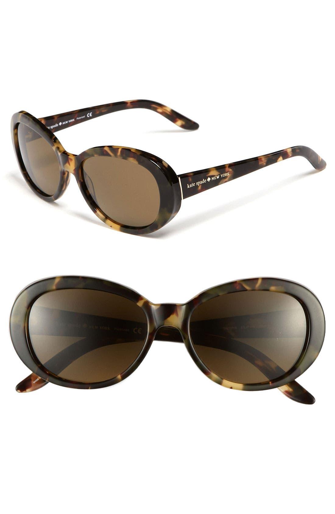Main Image - kate spade new york 'tali' 53mm polarized sunglasses