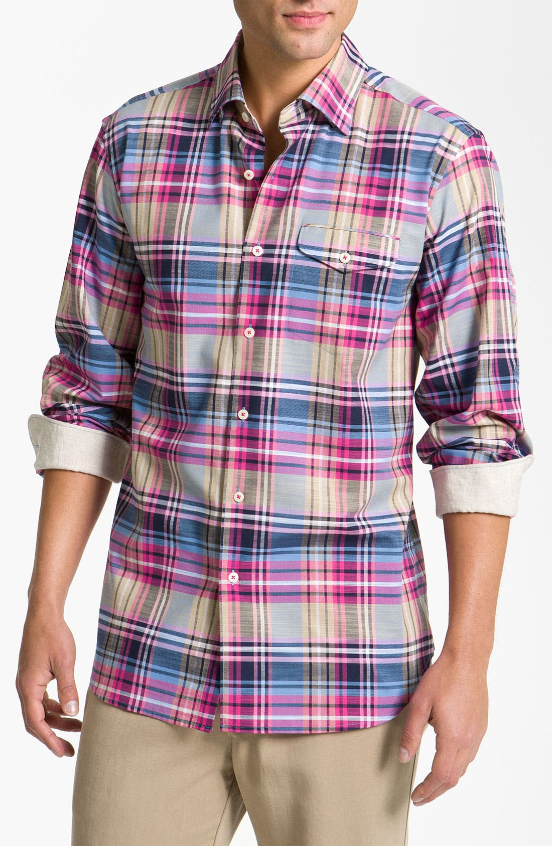 Alternate Image 1 Selected - Tommy Bahama 'Mangrove Plaid' Sport Shirt