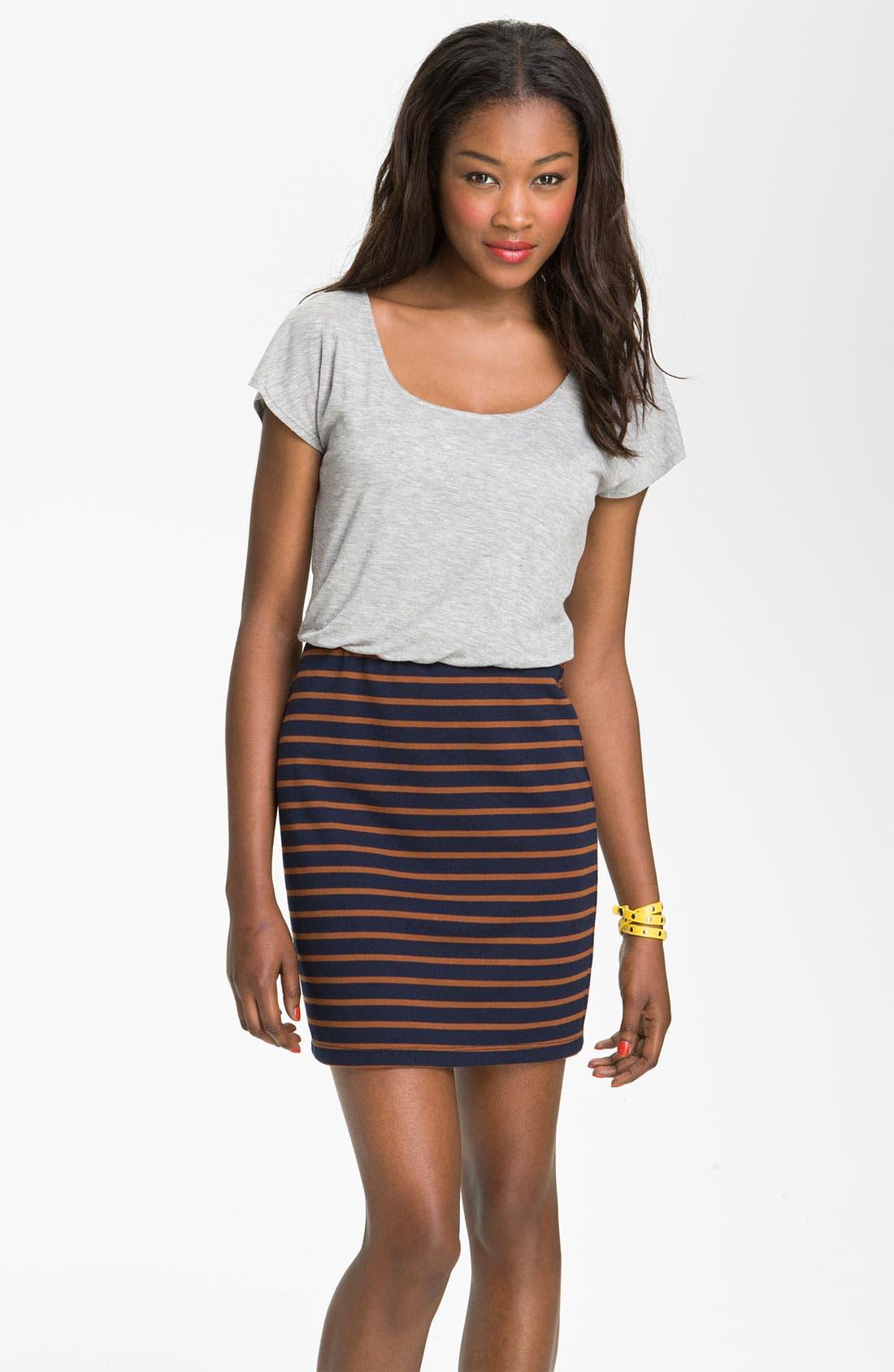 Main Image - Mimi Chica Stripe Dress (Juniors)