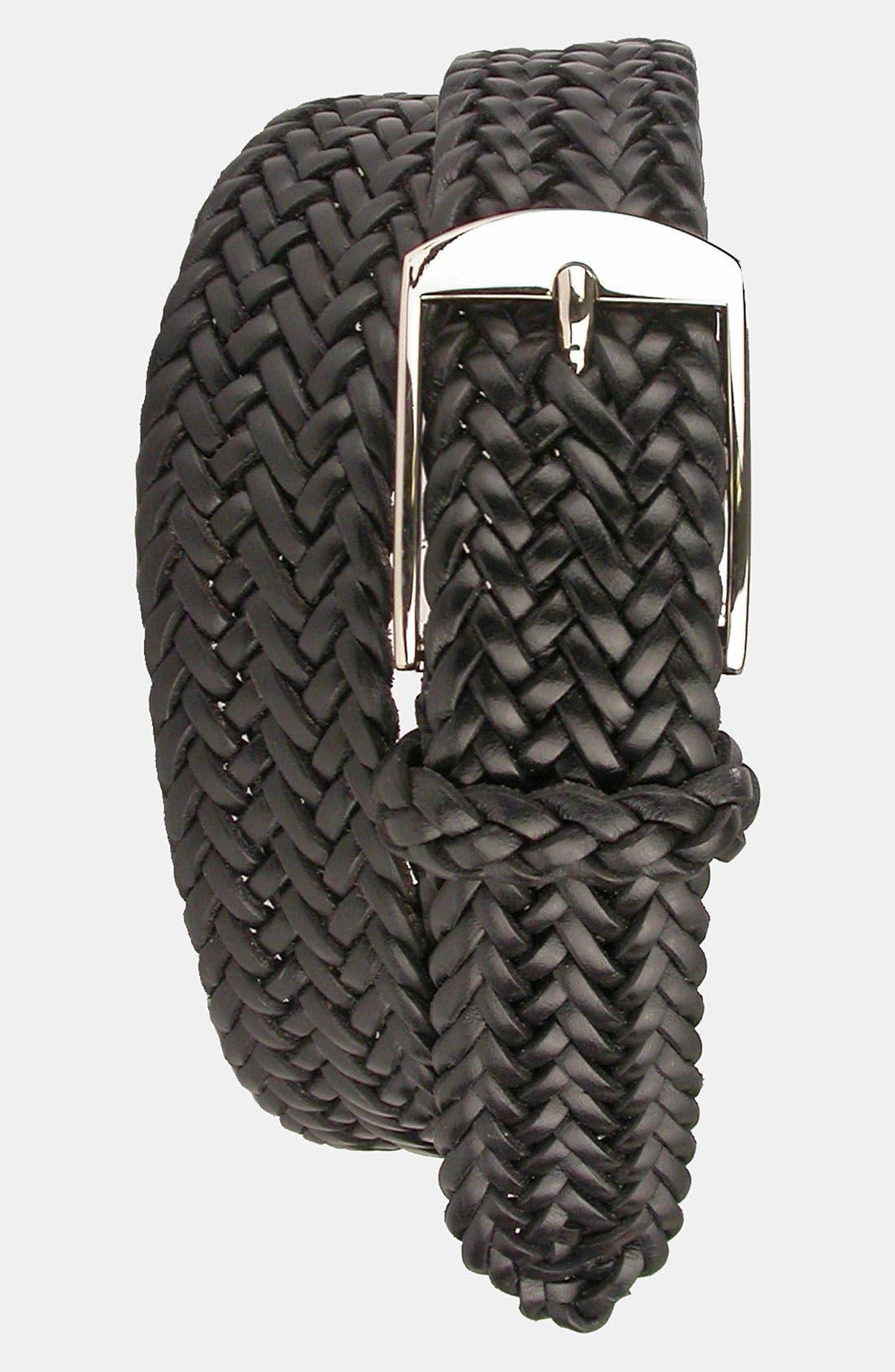Main Image - Martin Dingman 'Loran' Braided Saddle Leather Belt