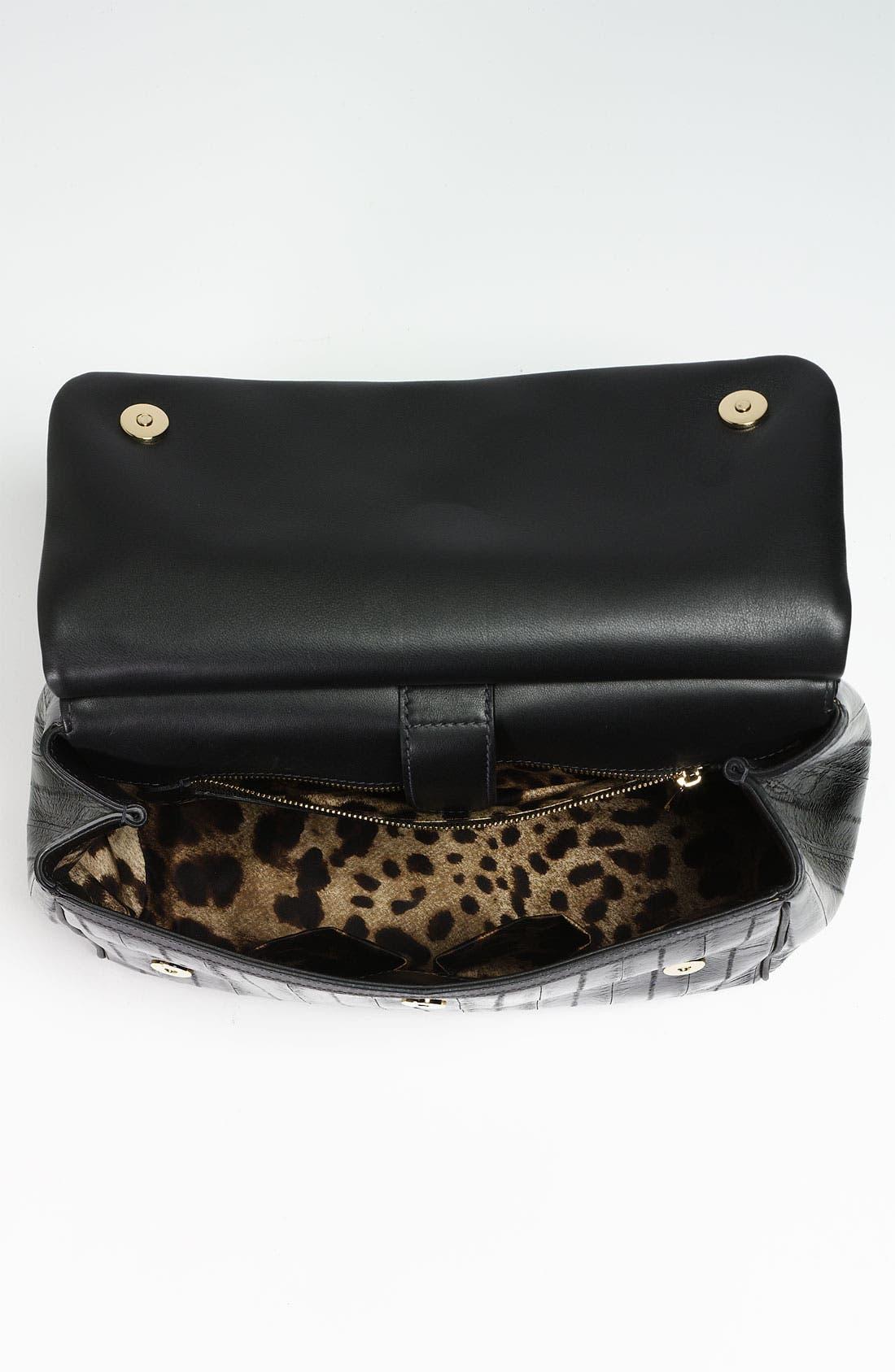 Alternate Image 3  - Dolce&Gabbana 'Miss Sicily' Eel & Leather Satchel