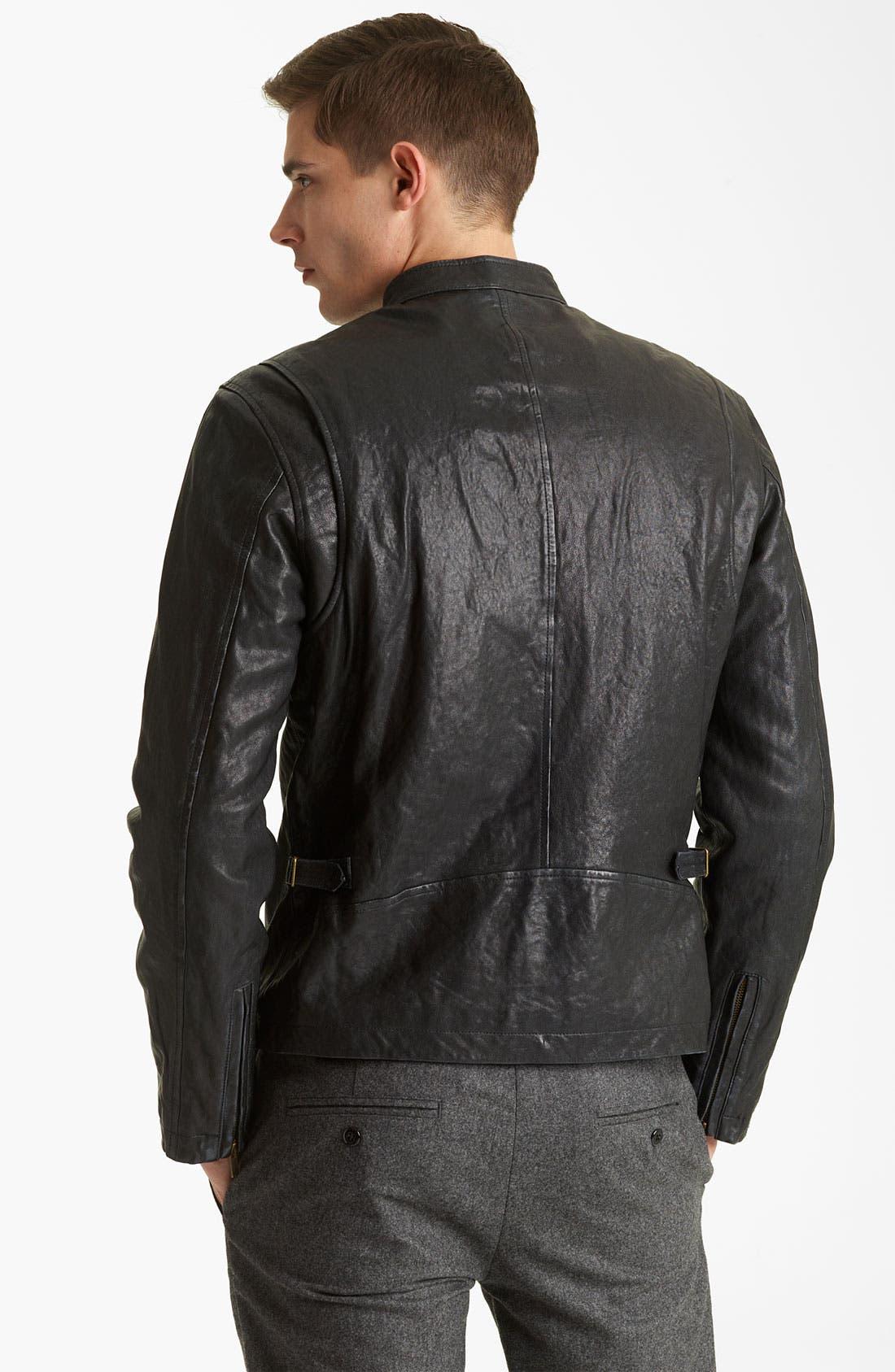 Alternate Image 2  - Todd Snyder Leather Moto Jacket