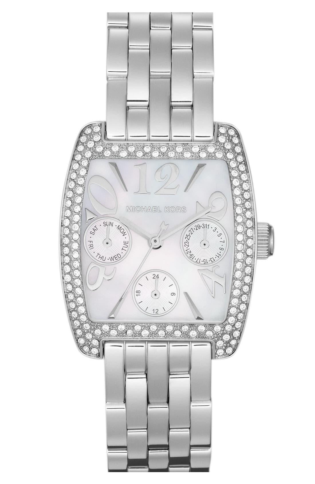Alternate Image 1 Selected - Michael Kors 'Emma' Square Bracelet Watch