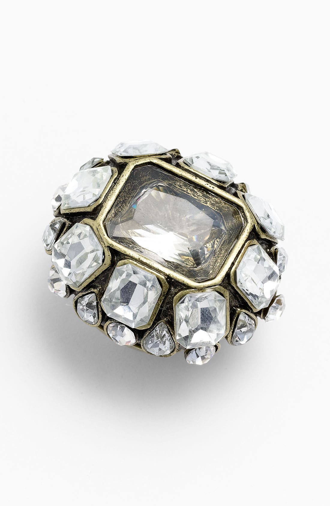 Alternate Image 1 Selected - Natasha Couture 'Chunky Crystal' Stretch Ring