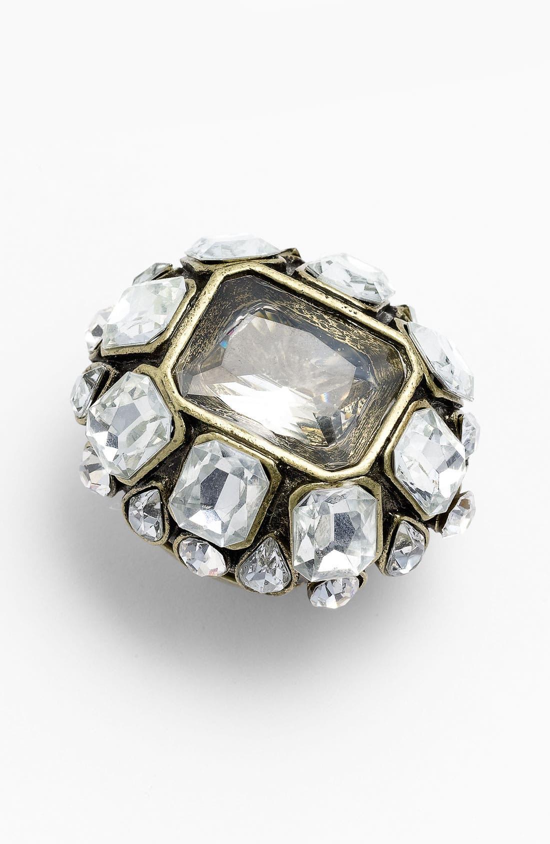 Main Image - Natasha Couture 'Chunky Crystal' Stretch Ring