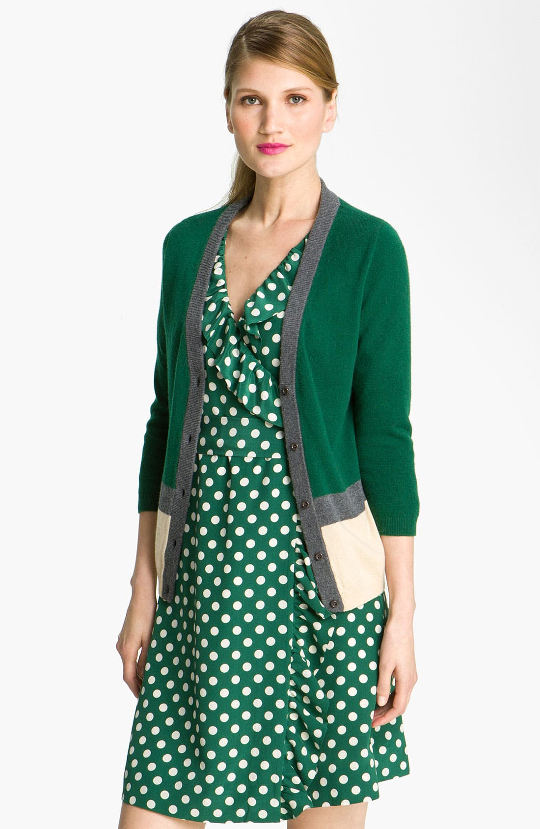 Alternate Image 1 Selected - kate spade new york 'thandie' merino wool cardigan