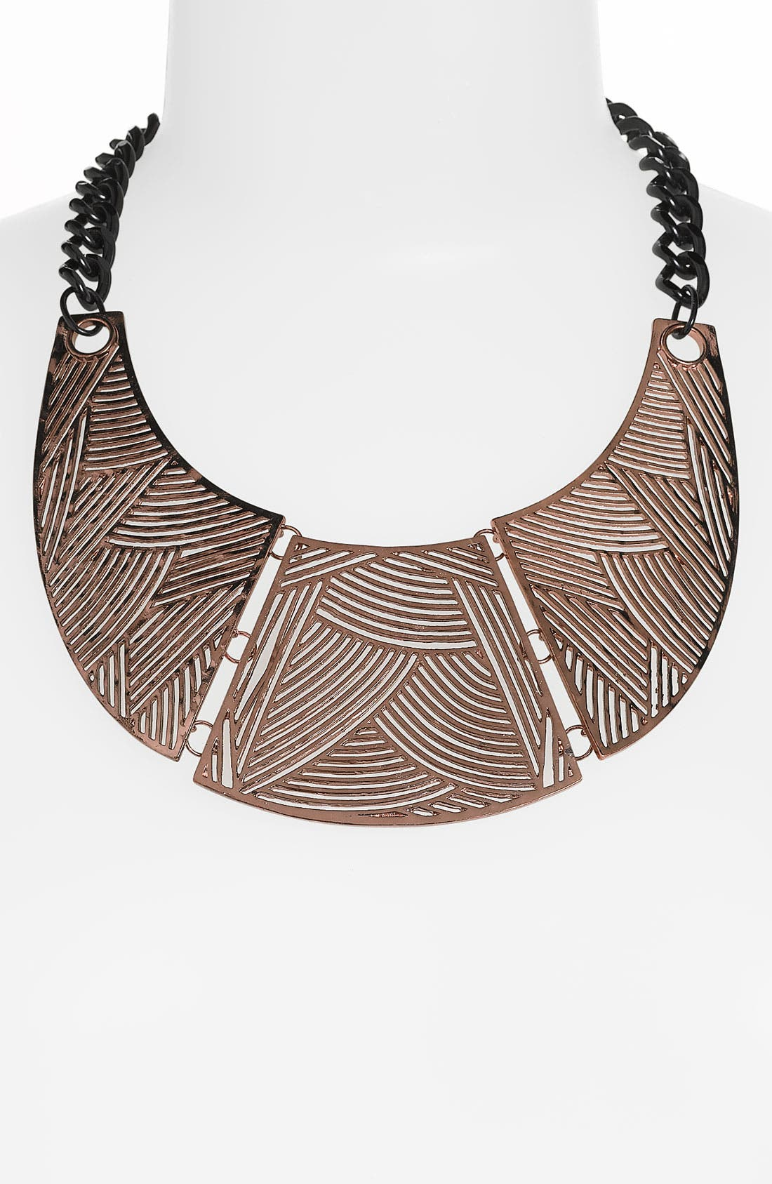 Main Image - Spring Street Design Group Carved Collar Necklace