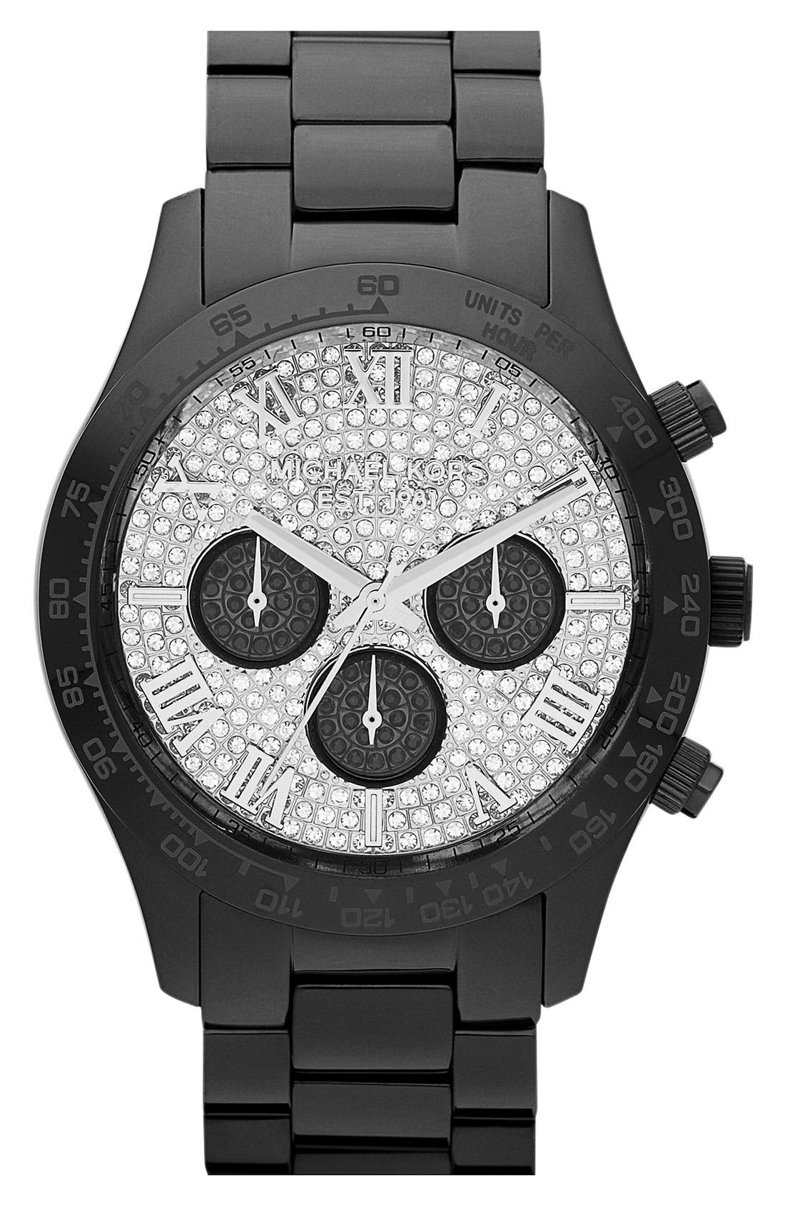 Main Image - Michael Kors 'Layton' Chronograph Bracelet Watch, 44mm