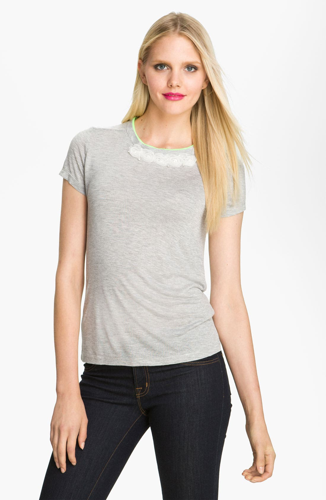 Alternate Image 1 Selected - Heed Rosette Trim Tee