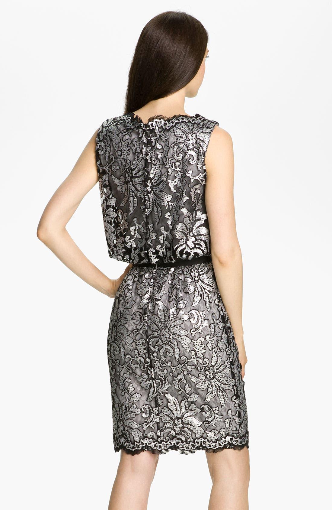 Alternate Image 2  - Tadashi Shoji Sequin Lace Tulle Dress