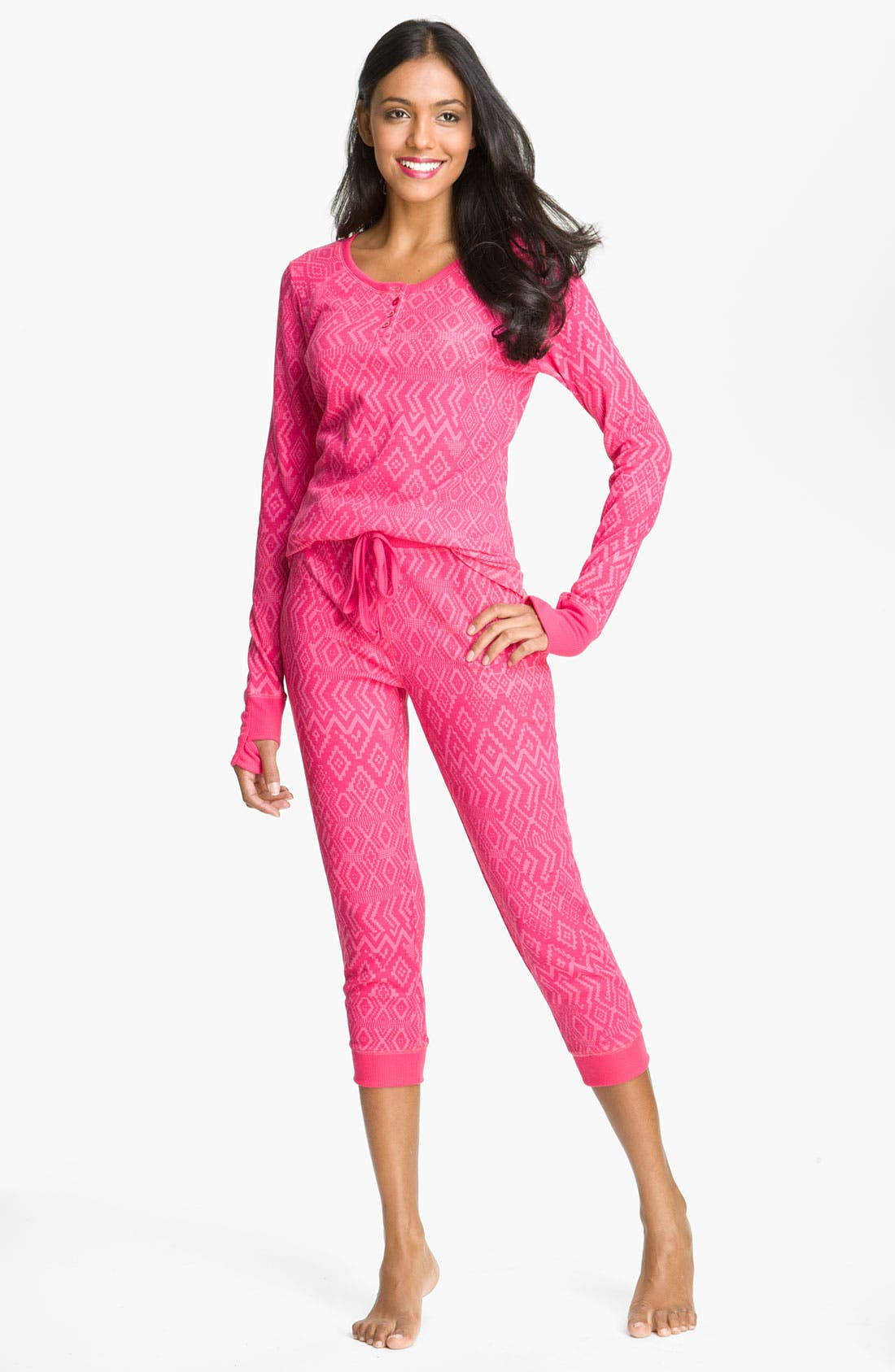 Alternate Image 1 Selected - Steve Madden Thermal Knit Pajamas