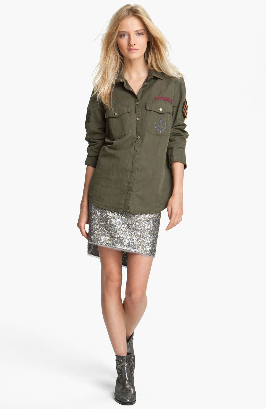 Alternate Image 1 Selected - Zadig & Voltaire 'Tachly' Military Shirt