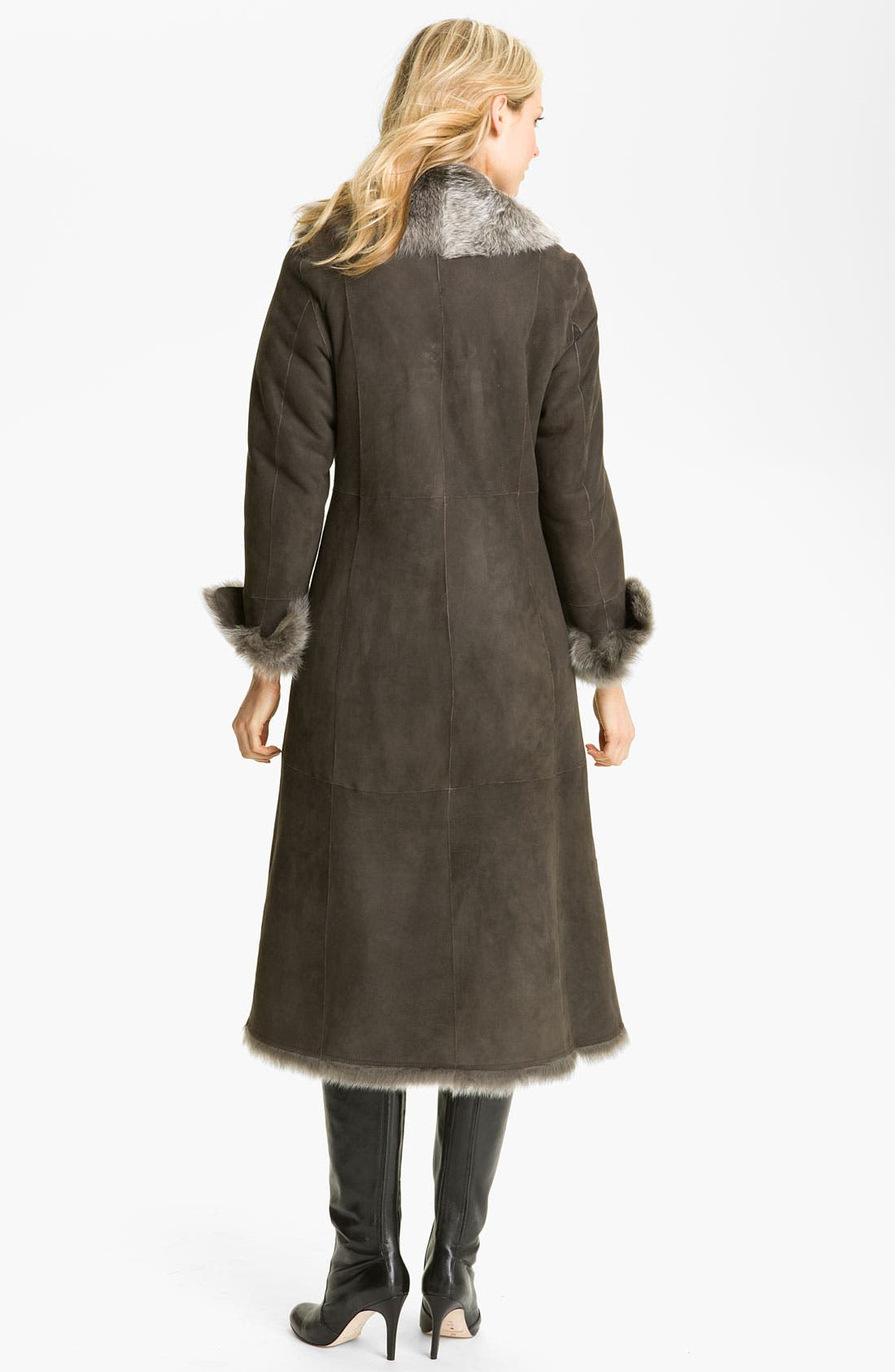 Alternate Image 2  - Cole Haan Long Shearling Coat