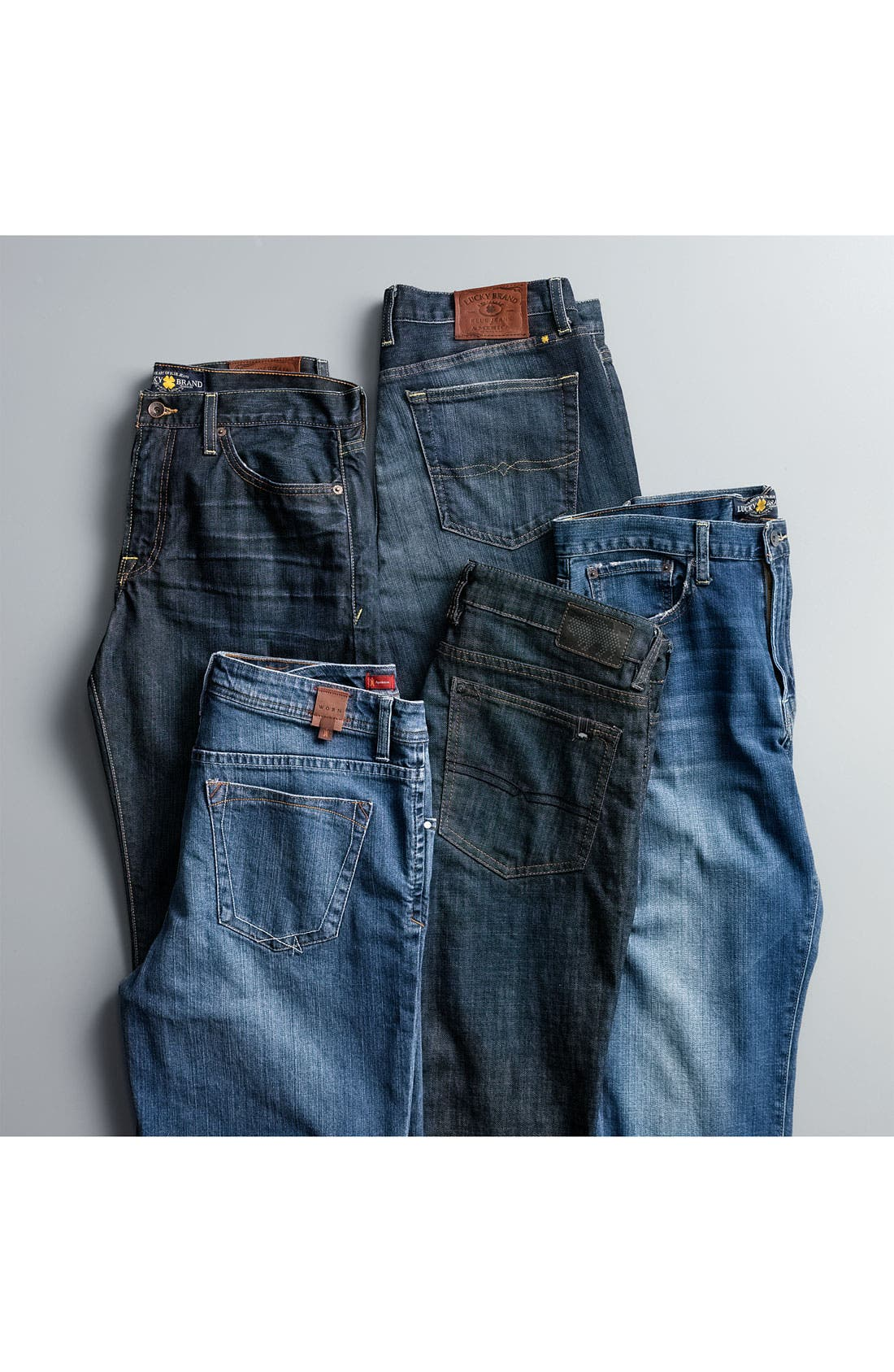 Alternate Image 6  - Lucky Brand 'Classic' Straight Leg Jeans (Croft)