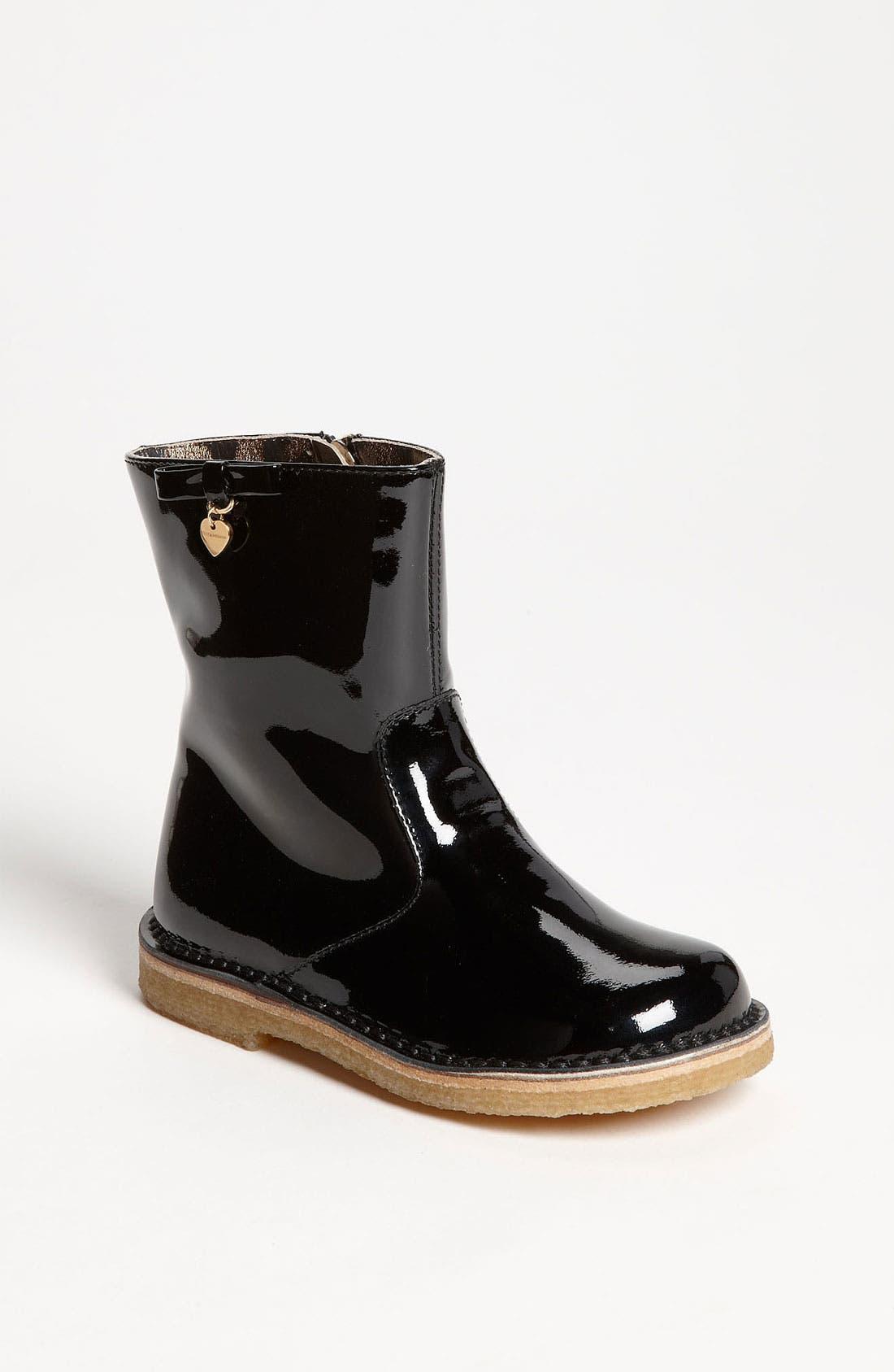 Alternate Image 1 Selected - Dolce&Gabbana Patent Boot (Walker & Toddler)