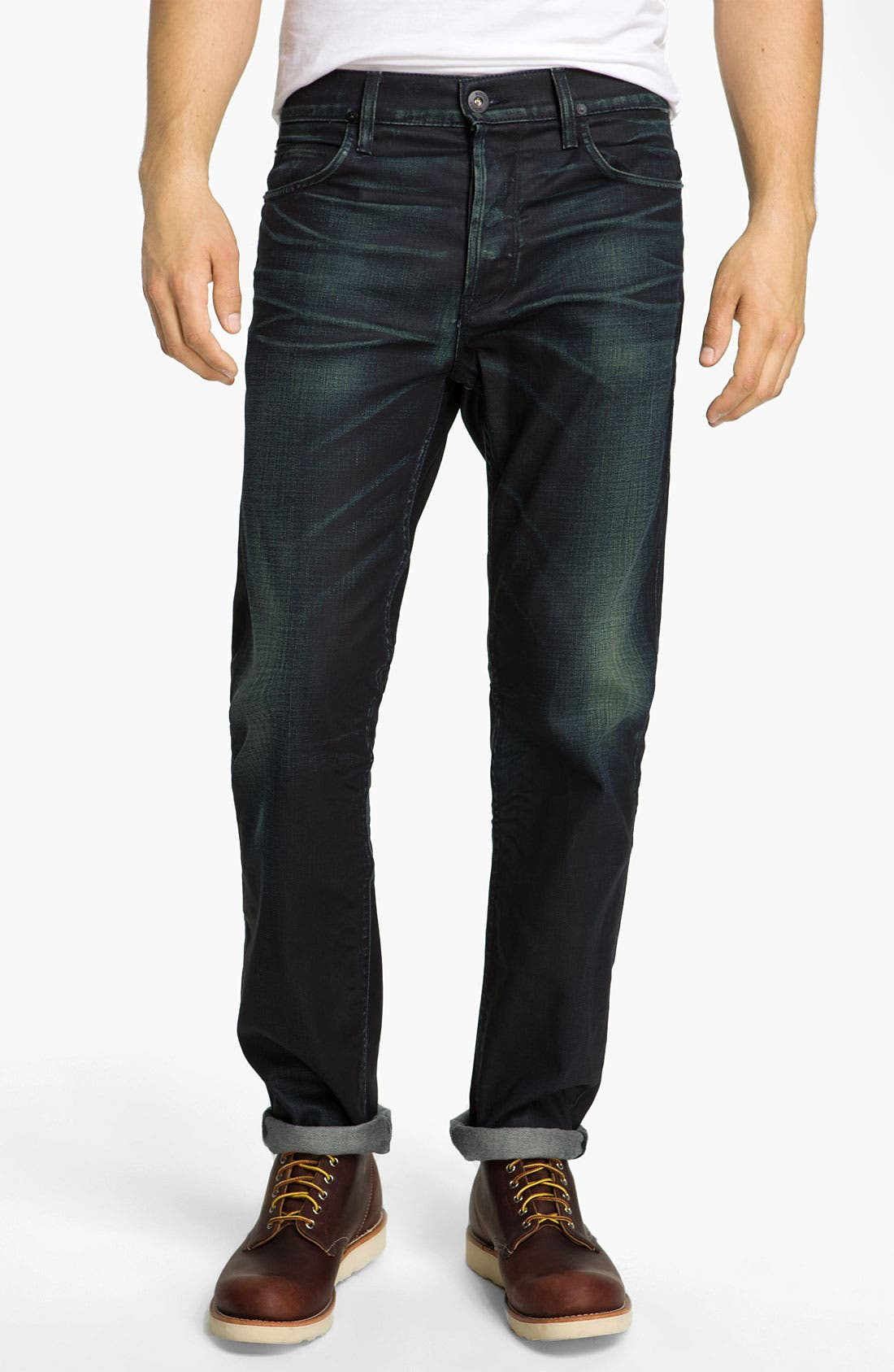 Alternate Image 2  - Hudson Jeans 'Dandy' Slouchy Straight Leg Jeans (Solitaire)
