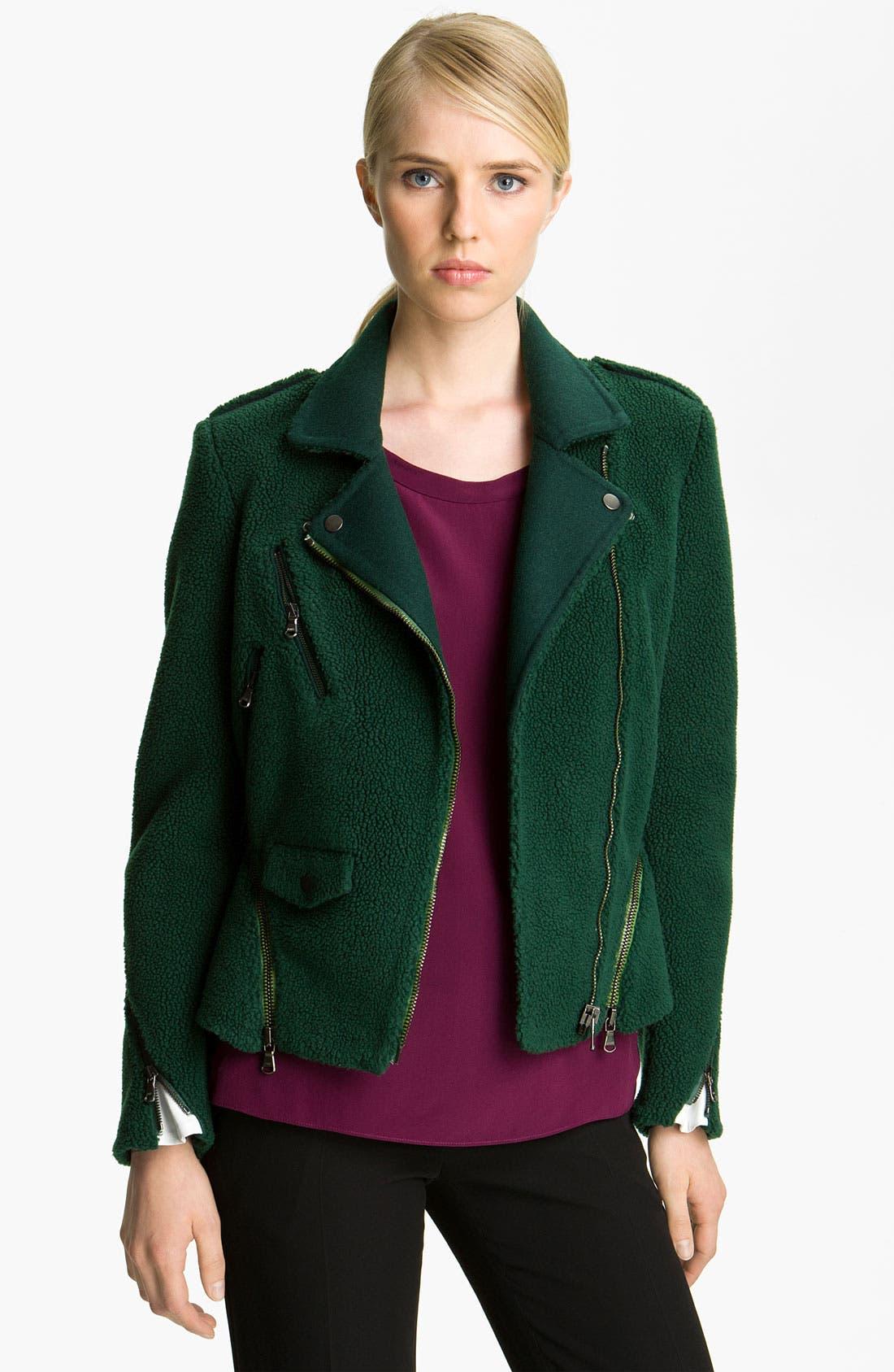 Alternate Image 1 Selected - 3.1 Phillip Lim Bonded Wool Moto Jacket