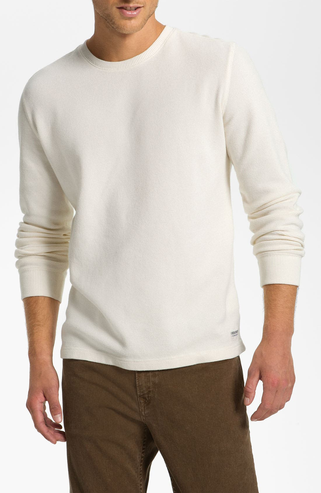 Main Image - Brooks Brothers Crewneck Thermal T-Shirt