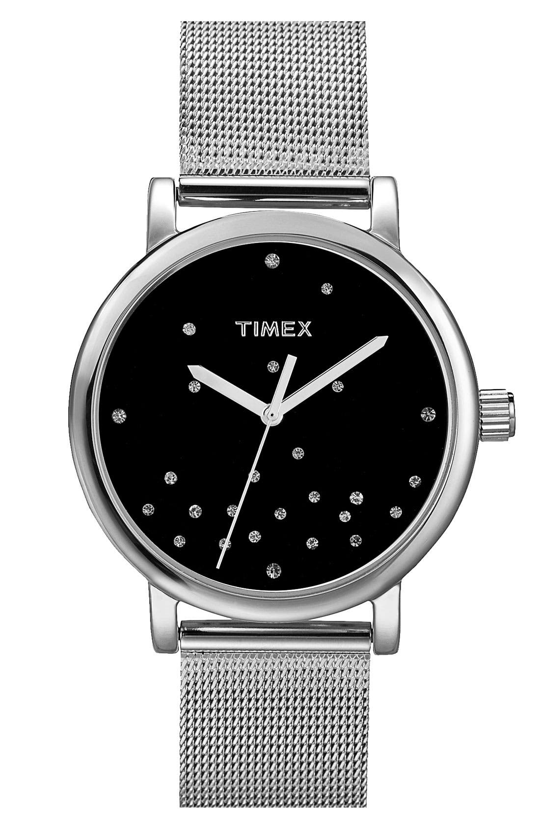 Alternate Image 1 Selected - Timex® Round Mesh Strap Watch