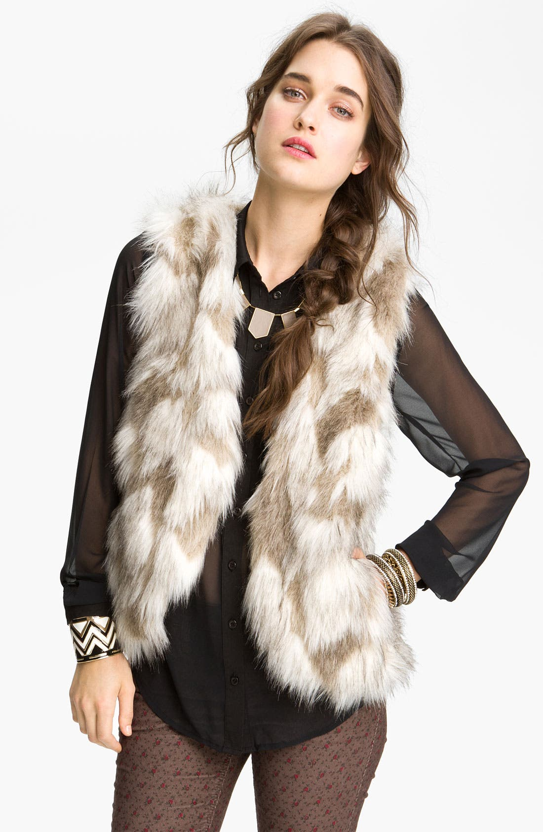 Alternate Image 1 Selected - Free People Faux Fur Vest