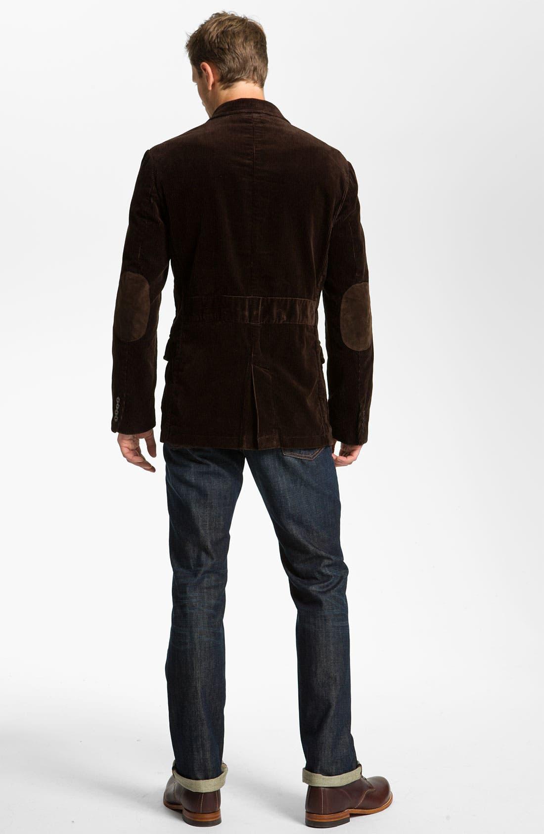 Alternate Image 6  - Earnest Sewn 'Dexter' Relaxed Straight Leg Jeans (Maz Dark)