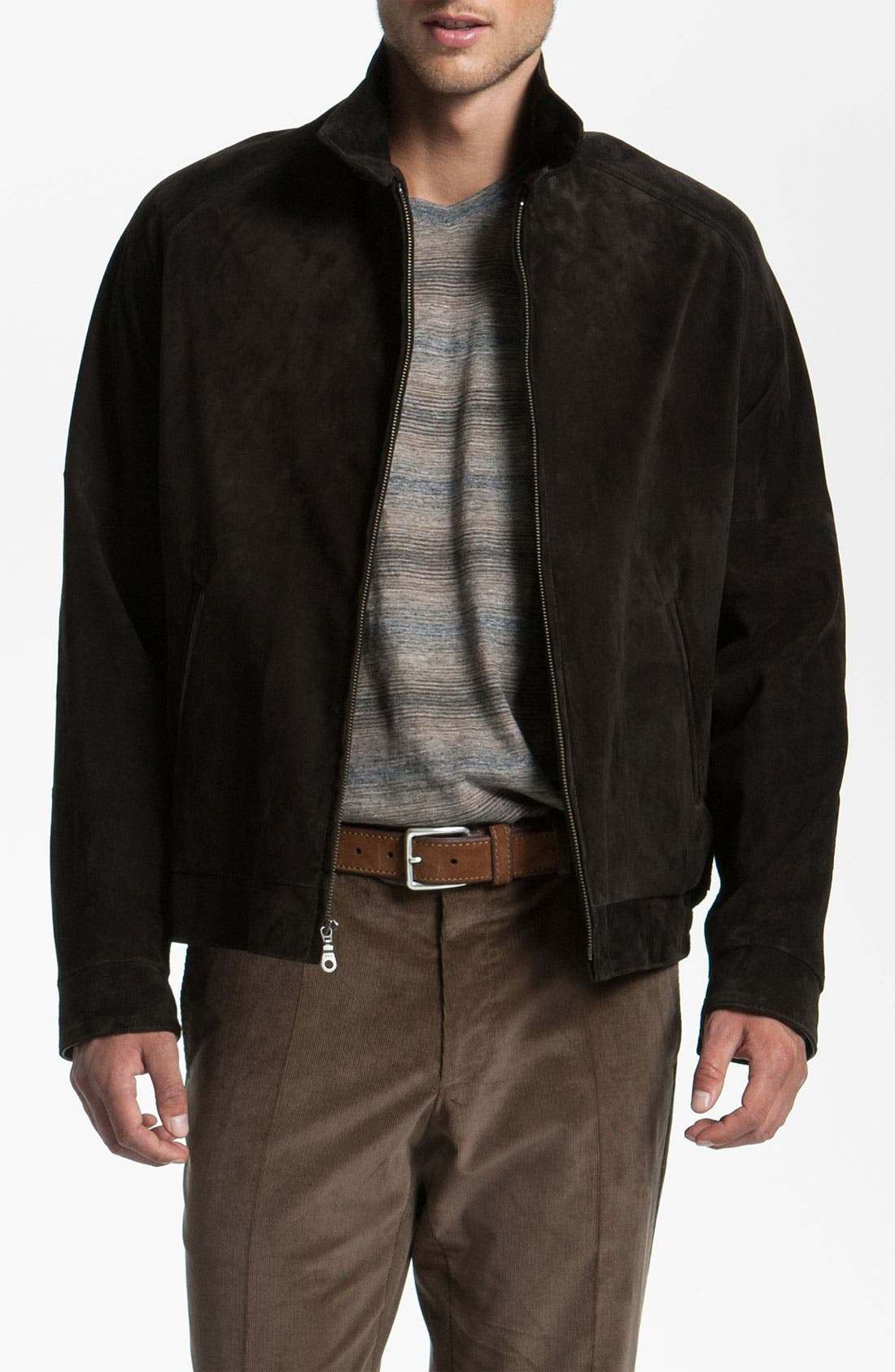 Main Image - Remy Leather Calf Suede Barracuda Jacket