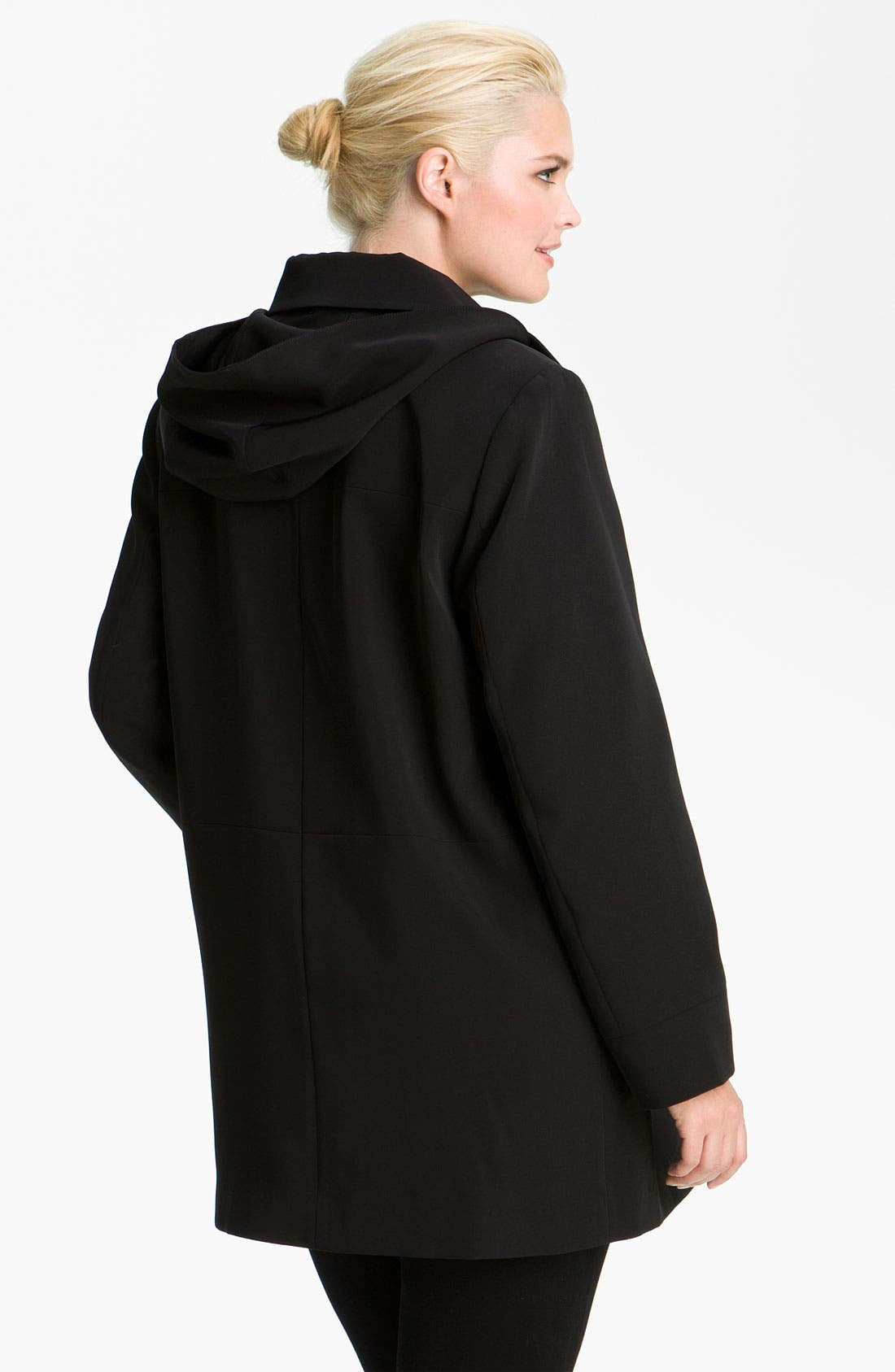 Alternate Image 2  - Gallery Club Collar Coat with Detachable Liner (Plus)