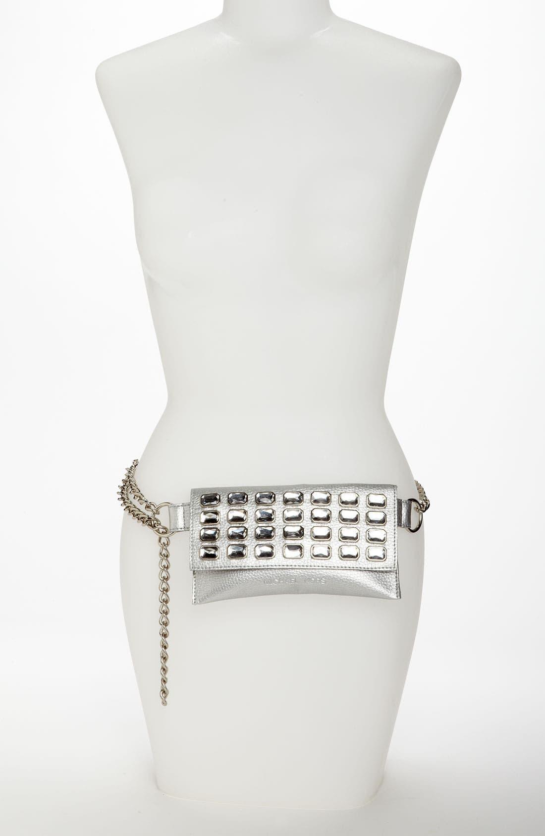Alternate Image 2  - MICHAEL Michael Kors Chain Belt with Flap Bag