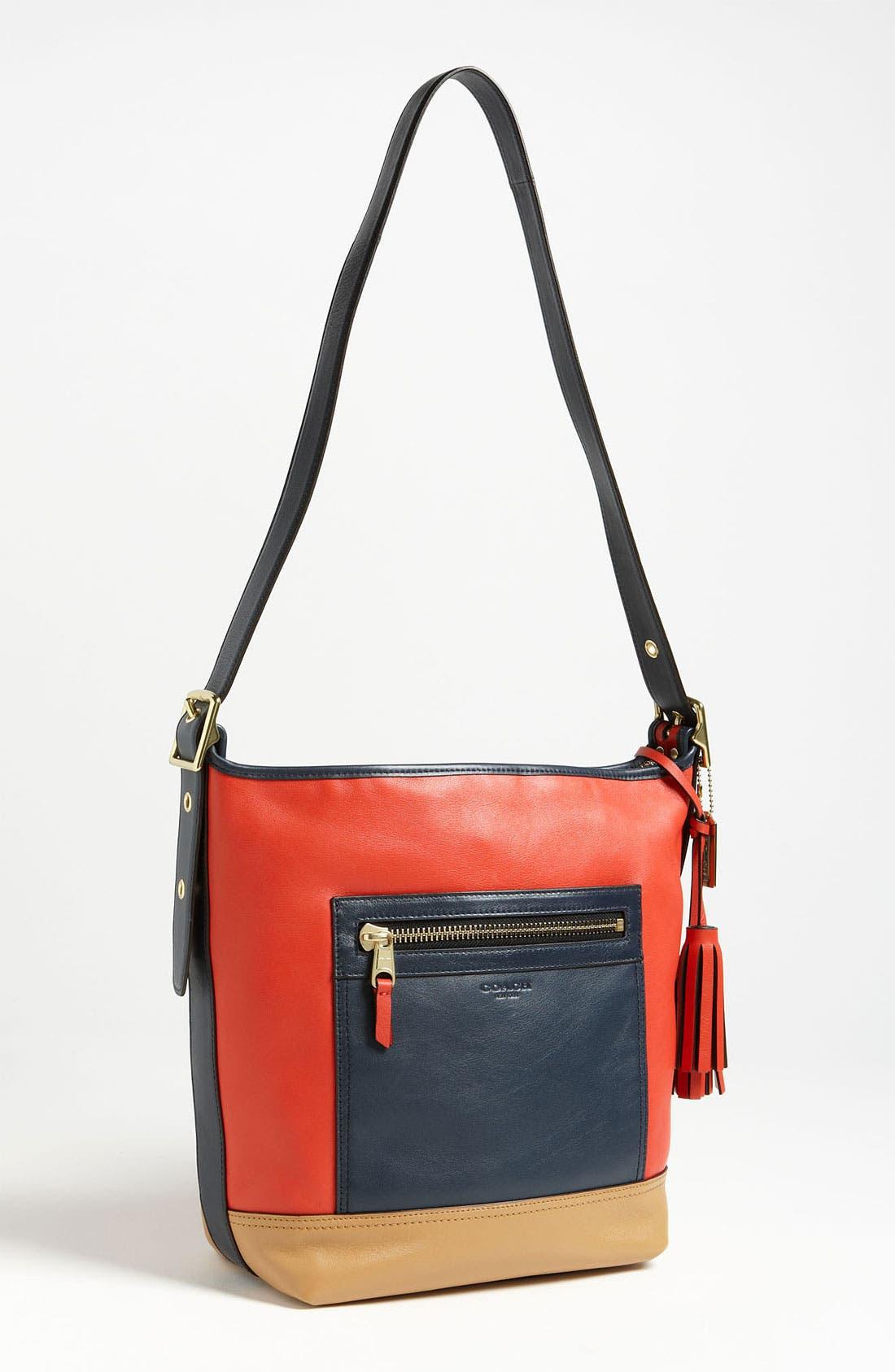 Alternate Image 1 Selected - COACH Colorblock Leather Duffel
