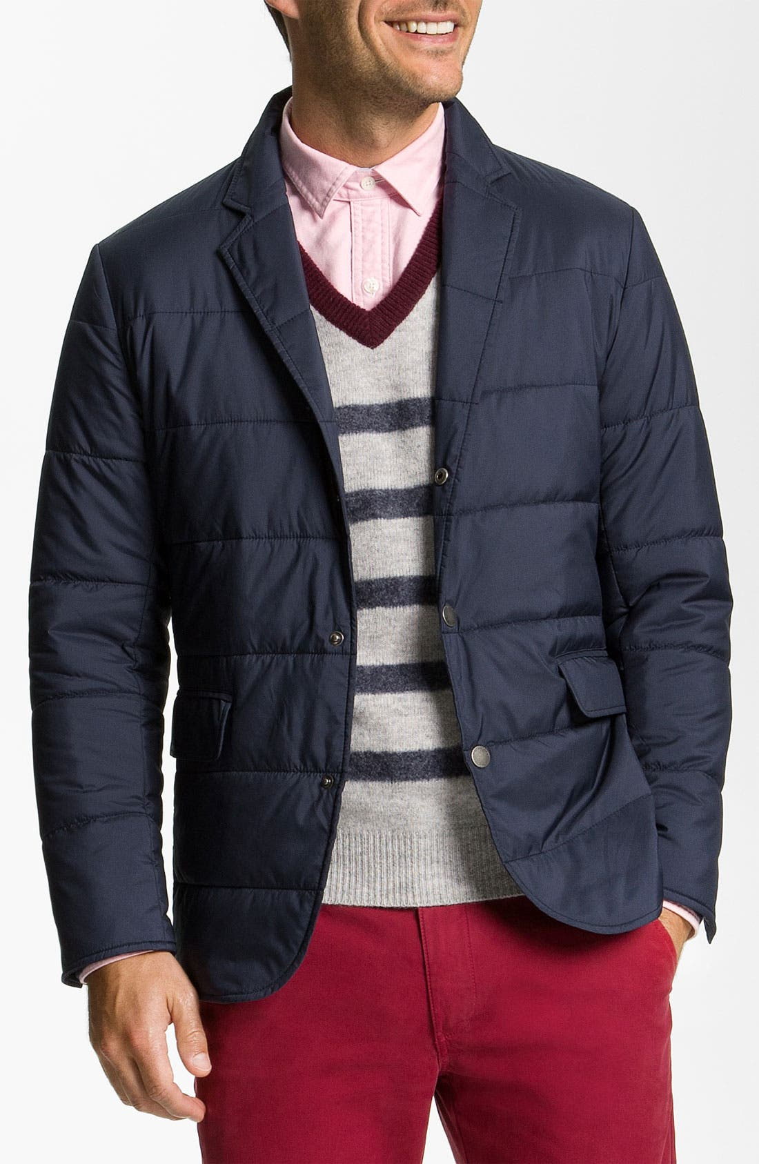 Alternate Image 1 Selected - Brooks Brothers 'University' Quilted Blazer-Cut Jacket