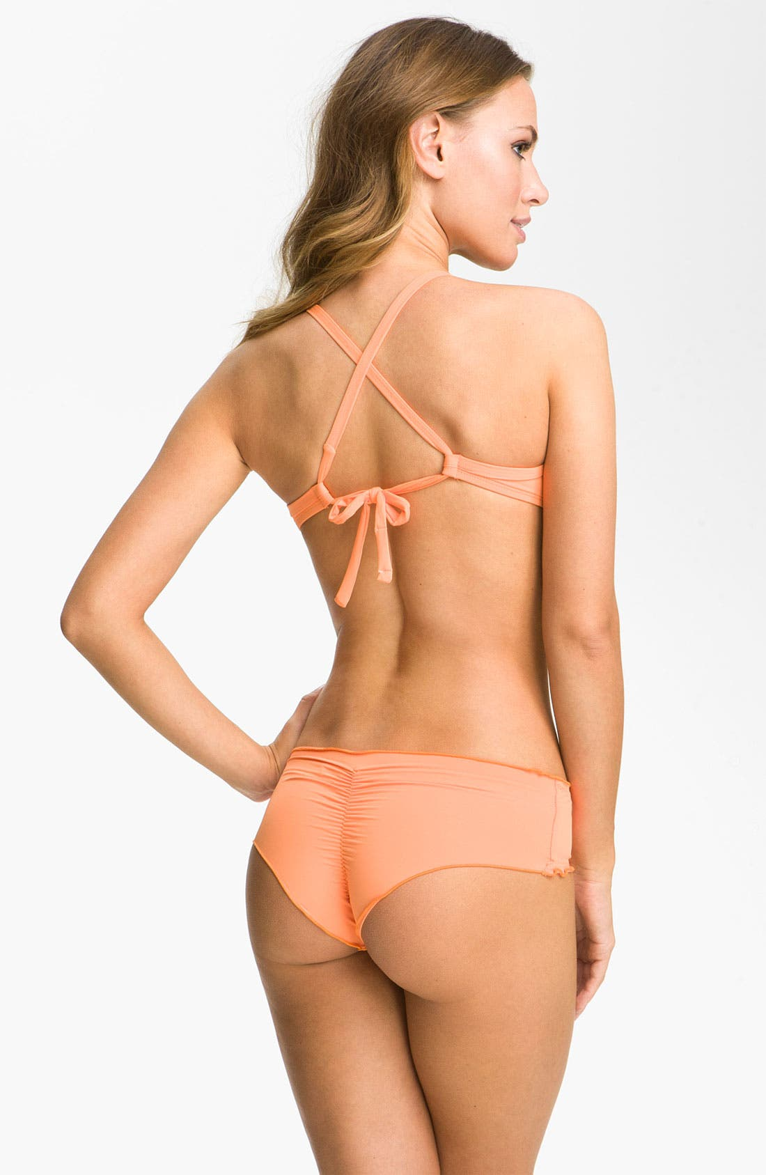 Alternate Image 5  - Vitamin A® 'Rio' Ruffled Low Rise Bikini Bottoms