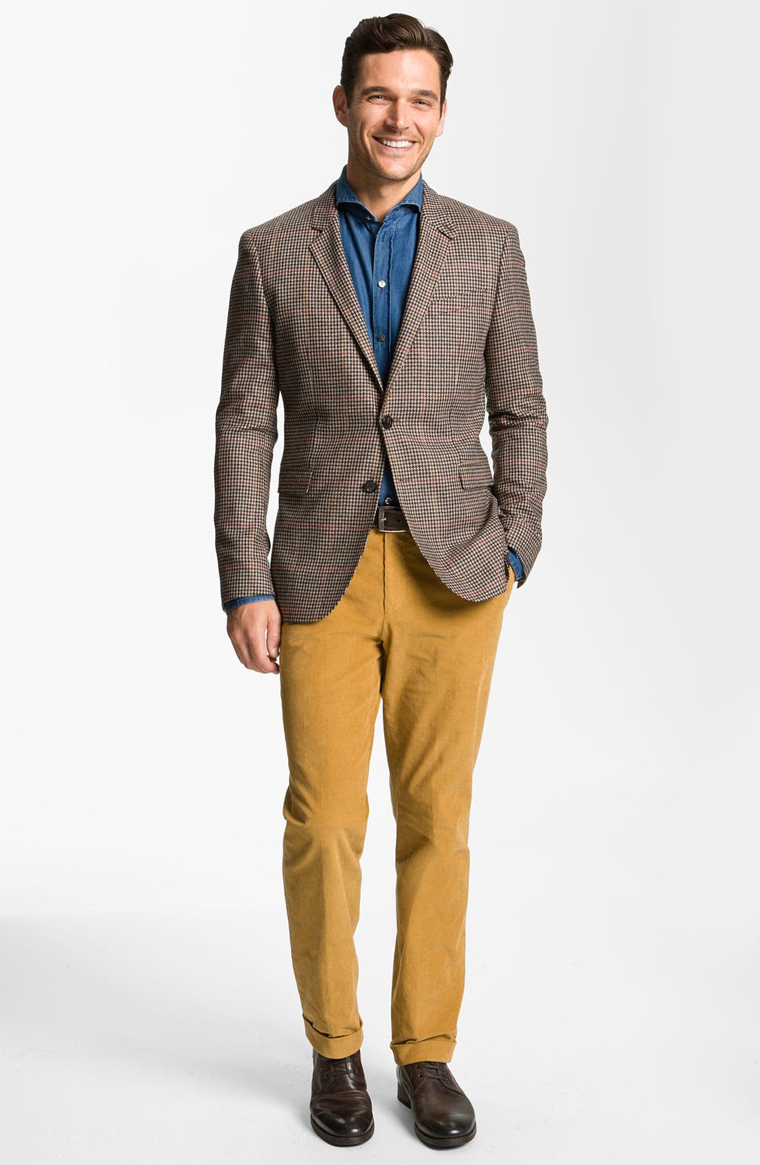 Alternate Image 4  - BOSS Black 'Shap' Corduroy Trousers