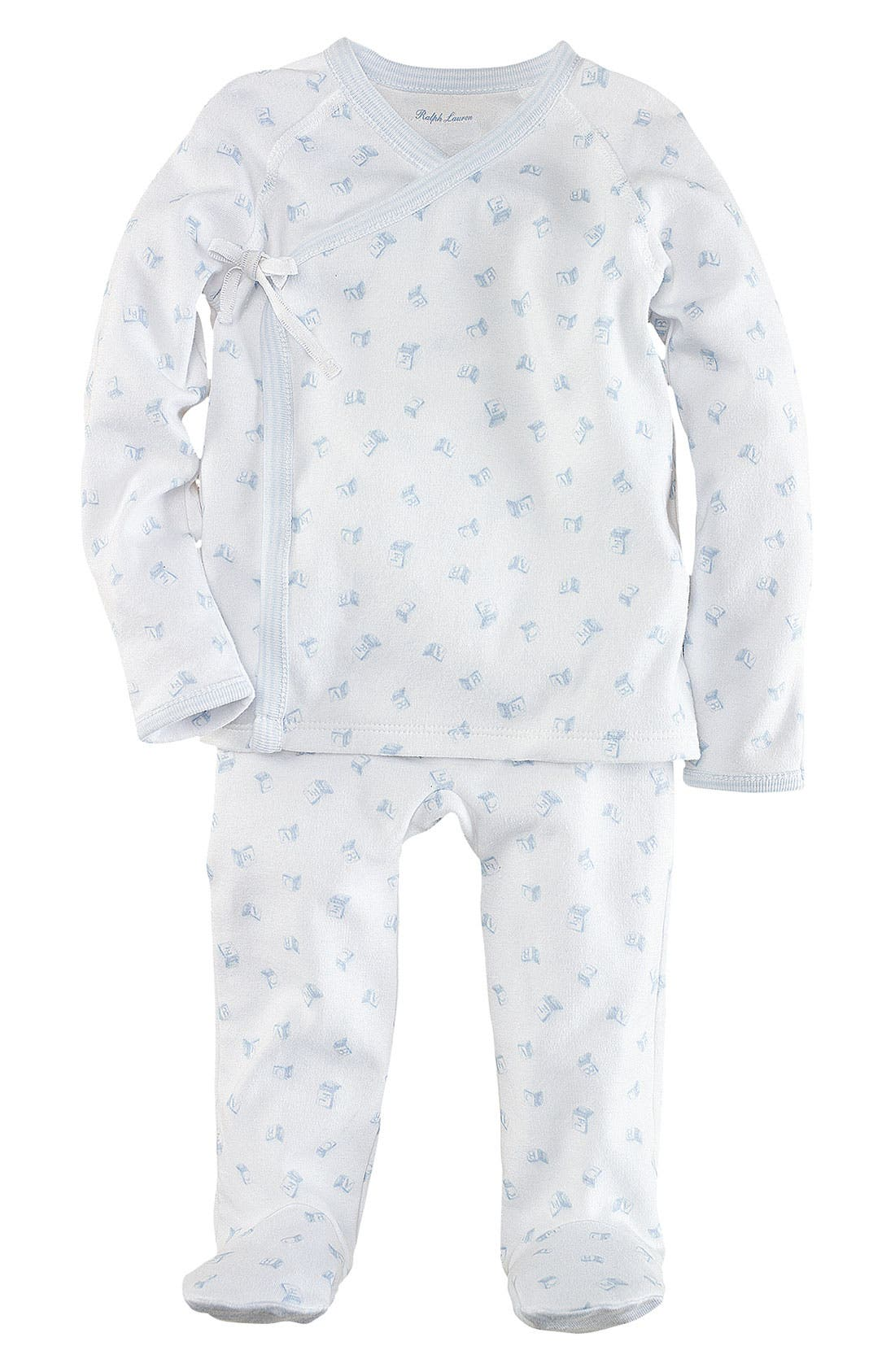 Alternate Image 1 Selected - Ralph Lauren Top & Footed Leggings (Infant)