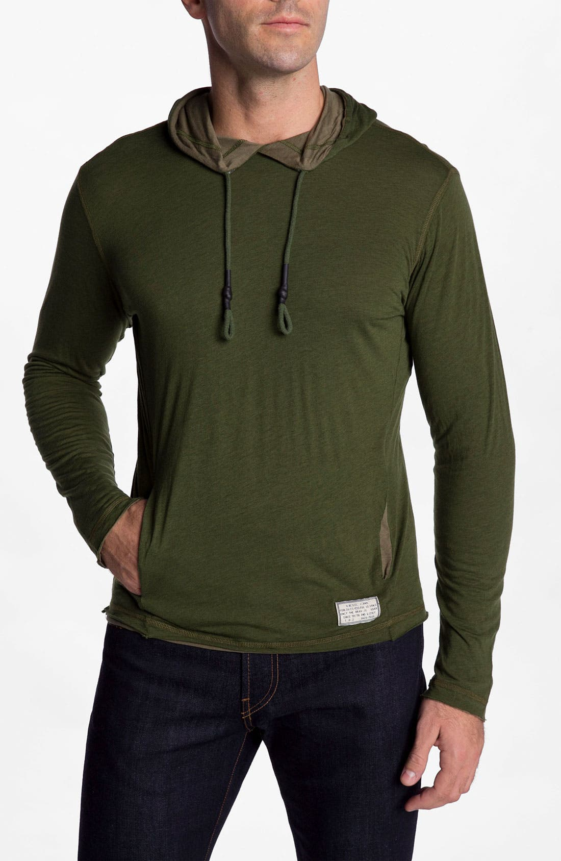Alternate Image 1 Selected - DIESEL® 'Stanatos' Reversible Hoodie