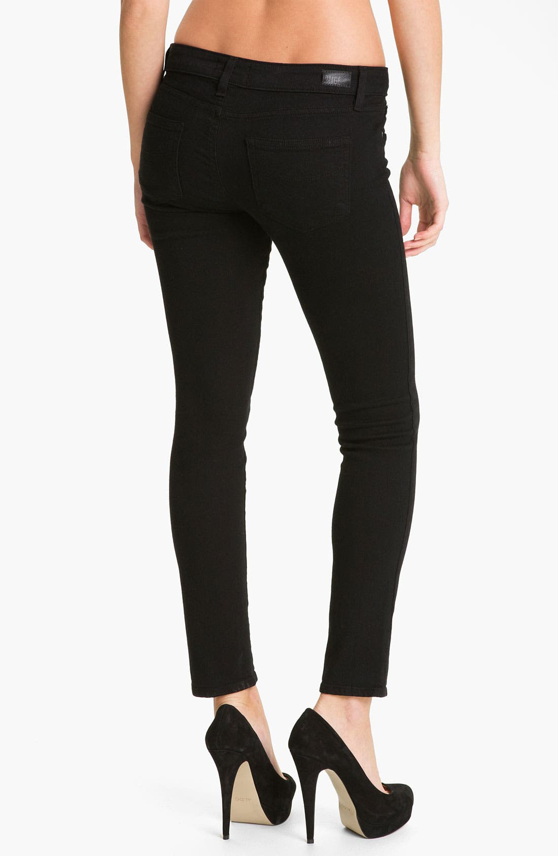 Alternate Image 2  - Paige Denim 'Skyline' Ankle Peg Skinny Stretch Jeans (Black Ink)