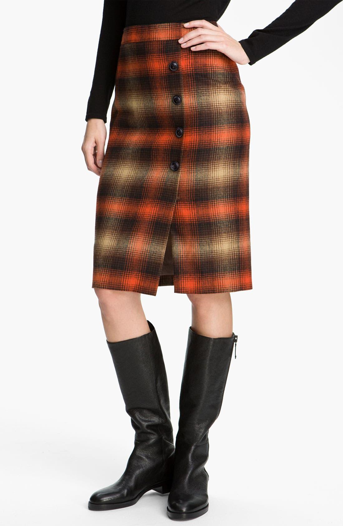 Alternate Image 1 Selected - Classiques Entier® 'Felise' Plaid Pencil Skirt