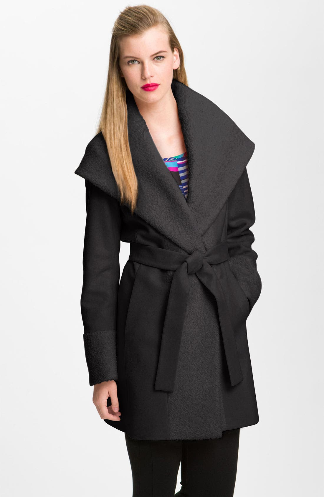 Alternate Image 1 Selected - Trina Turk Wool & Alpaca Blend Wrap Coat (Online Exclusive)