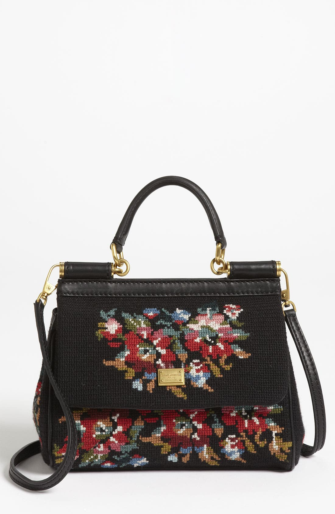 Main Image - Dolce&Gabbana 'Miss Sicily - Mini' Needlepoint Handbag