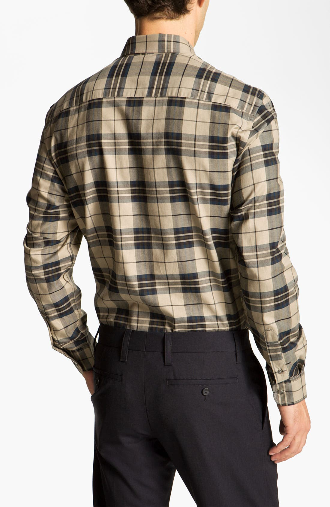 Alternate Image 2  - Cutter & Buck 'Malden' Plaid Sport Shirt (Online Only)