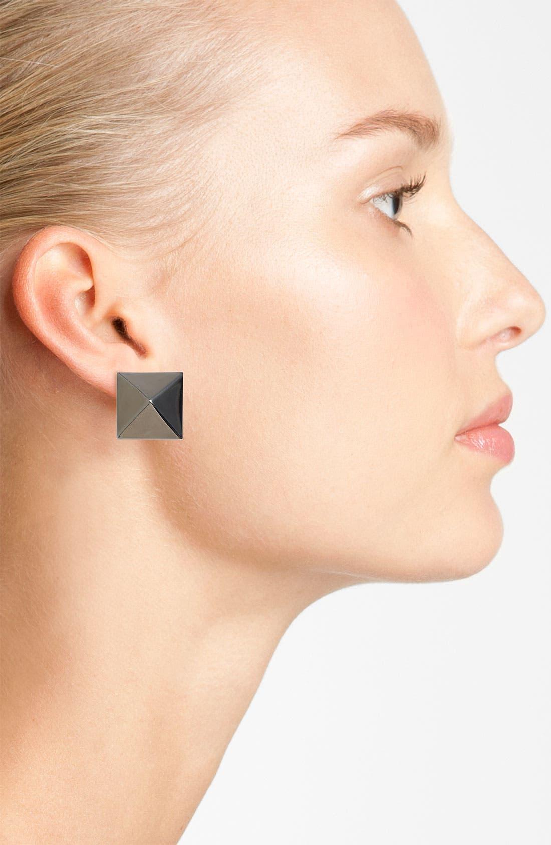 Alternate Image 2  - Vince Camuto 'Basics' Medium Pyramid Stud Earrings