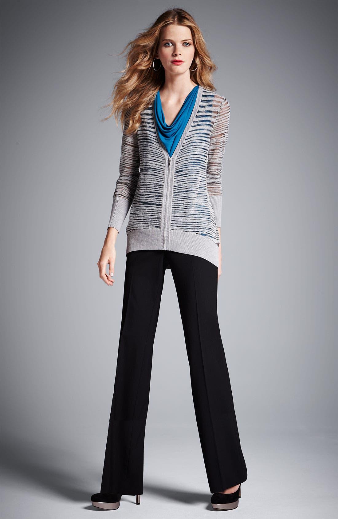 Alternate Image 4  - Classiques Entier® Flare Leg Stretch Wool Pants