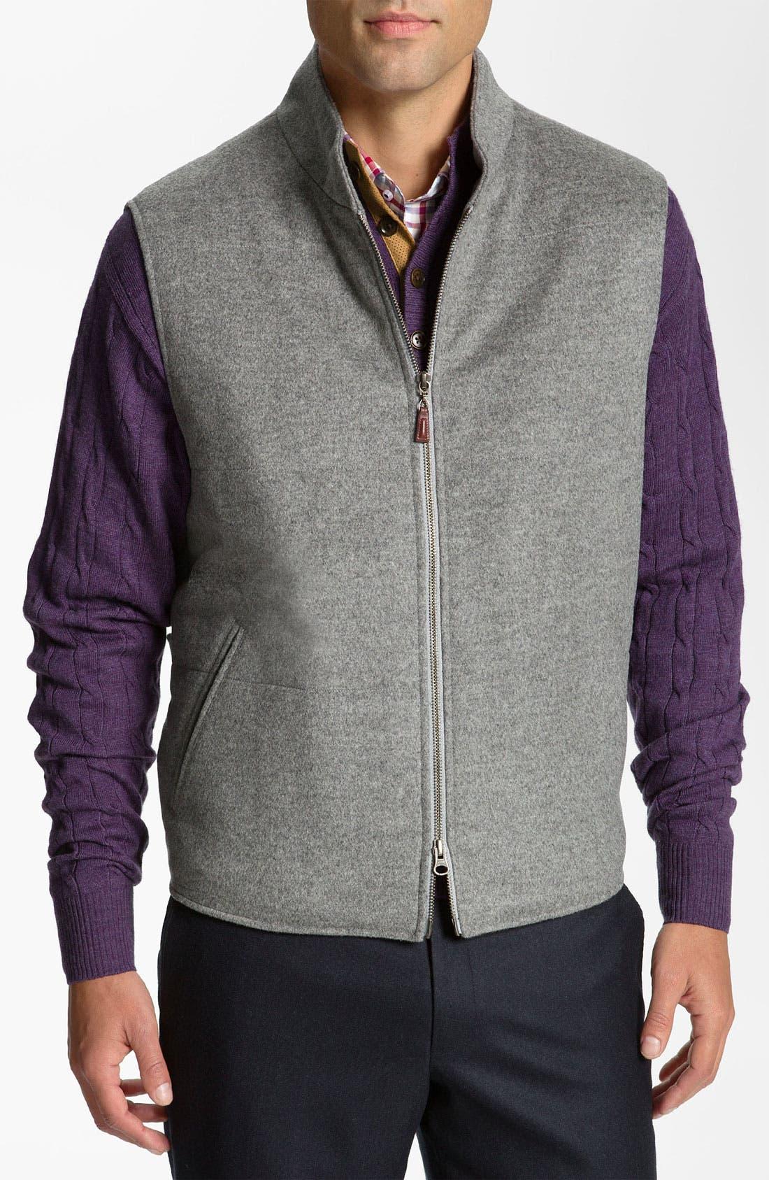 Alternate Image 1 Selected - Peter Millar Wool & Cashmere Vest