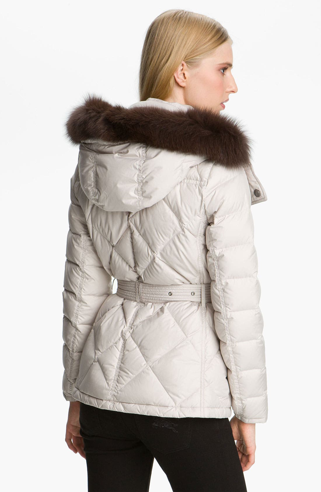 Alternate Image 2  - Burberry Brit Genuine Fox Fur Trim Down Jacket