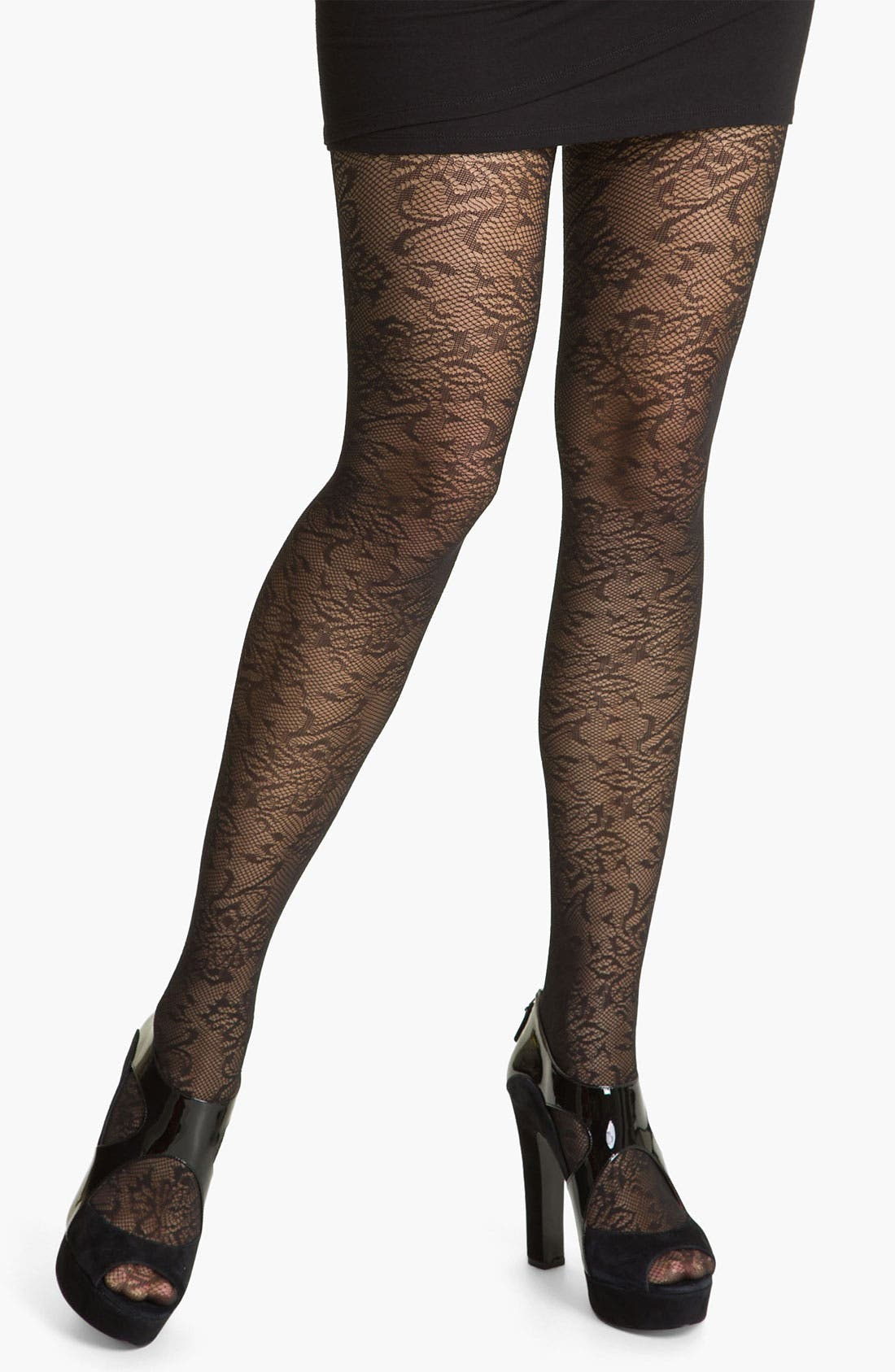 Main Image - Nordstrom Net Floral Tights