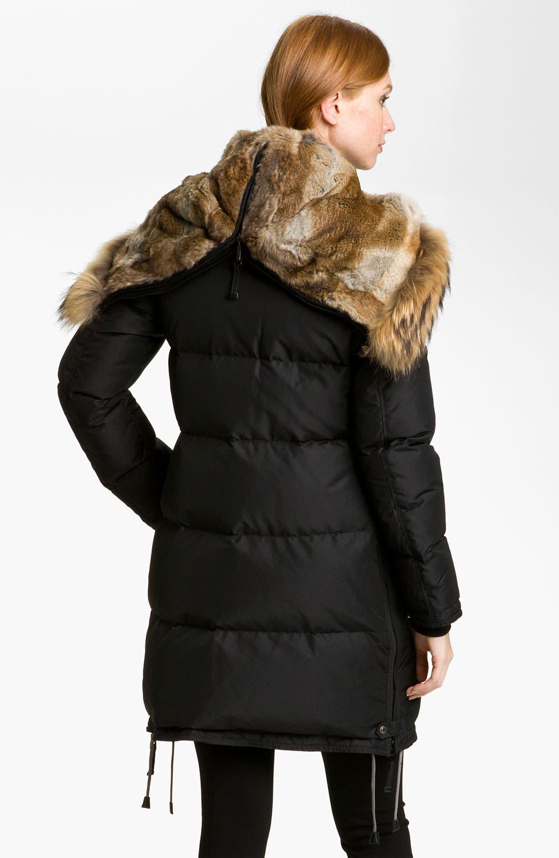 Alternate Image 2  - Parajumpers Down Coat with Genuine Raccoon & Rabbit Fur