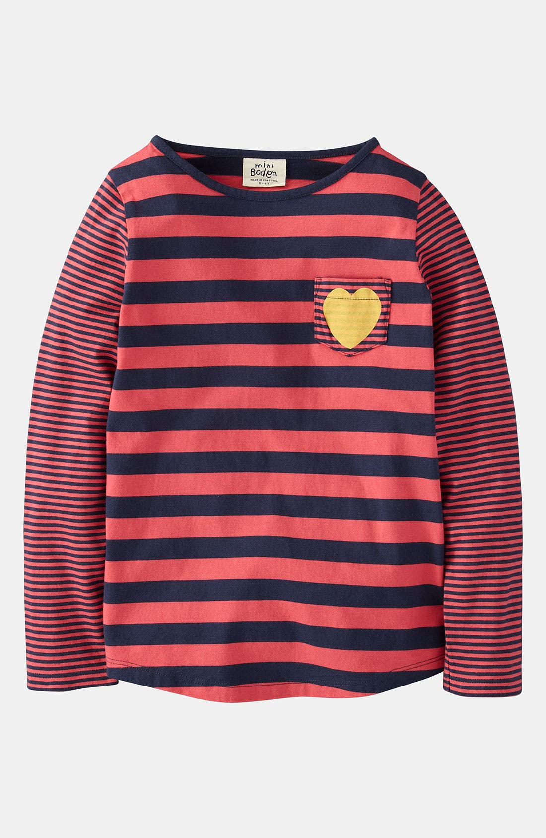 Alternate Image 1 Selected - Mini Boden 'Stripy Hotchpotch' Tee (Toddler)
