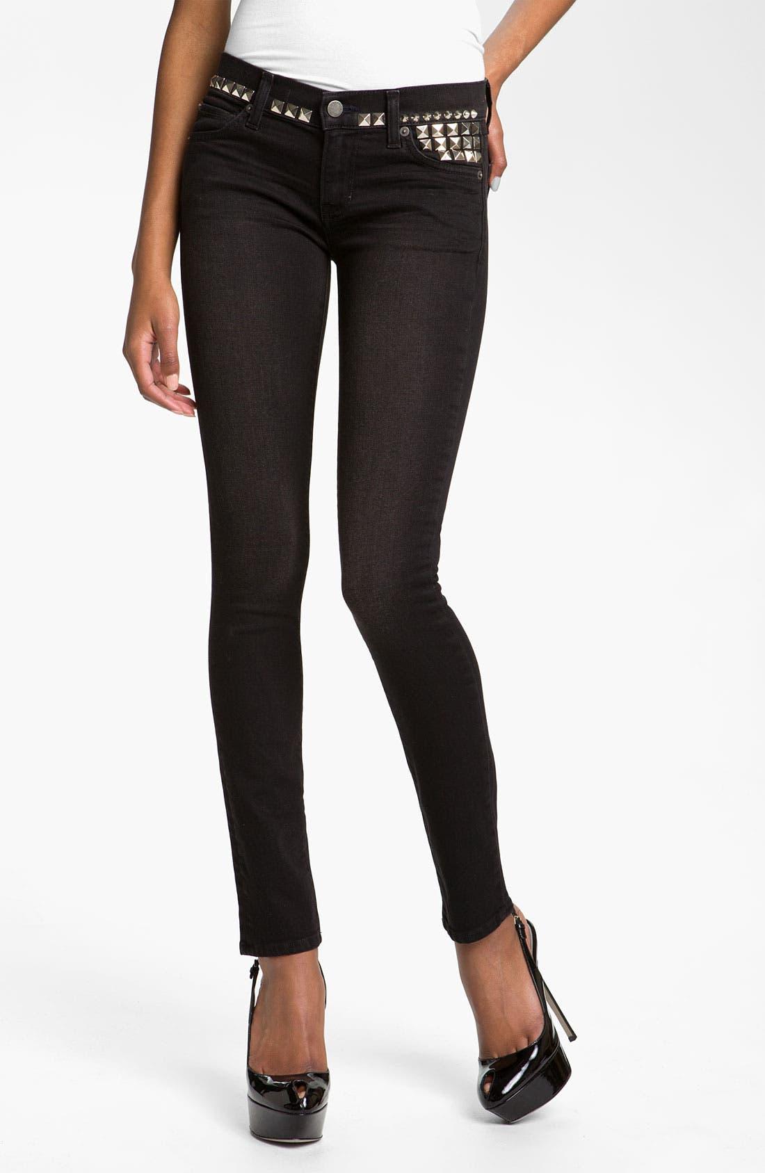 Alternate Image 1 Selected - TEXTILE Elizabeth and James 'Debbie' Studded Skinny Jeans