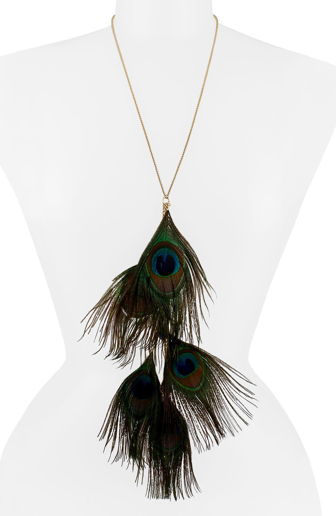 Main Image - Betsey Johnson 'Morocco Adventure' Feather Pendant Necklace